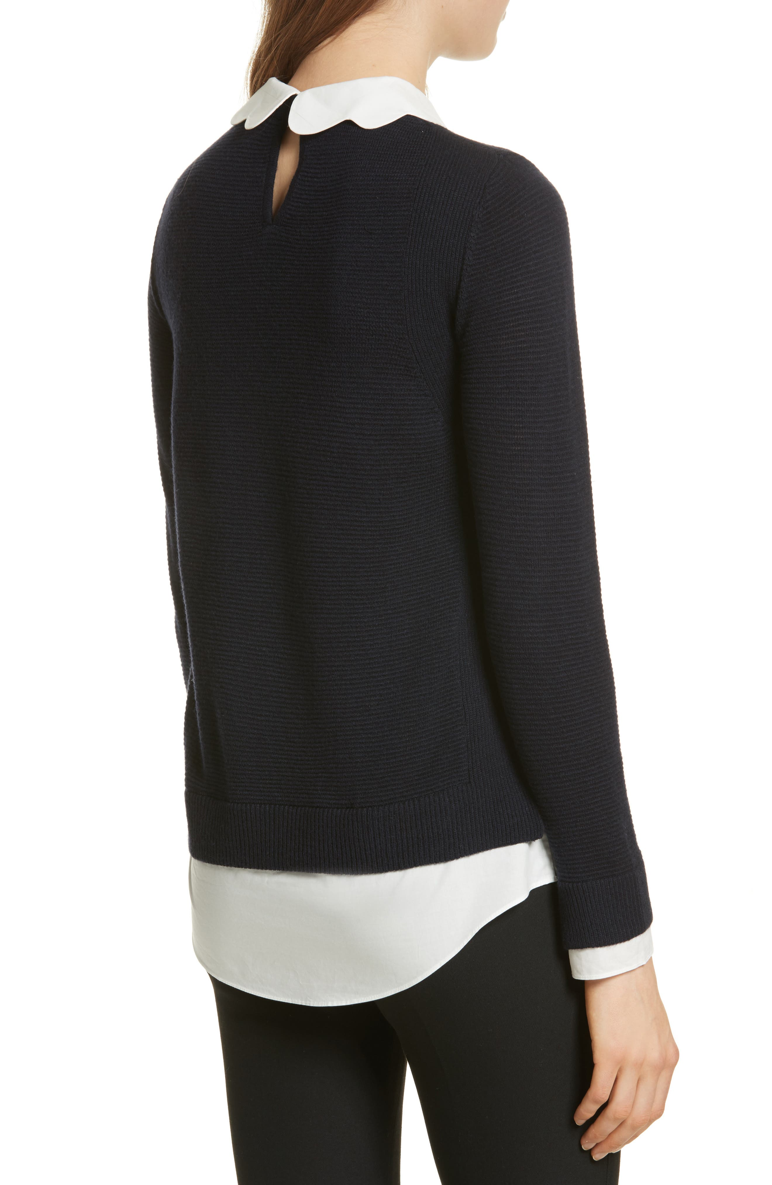 Alternate Image 2  - Ted Baker London Scallop Collar Sweater