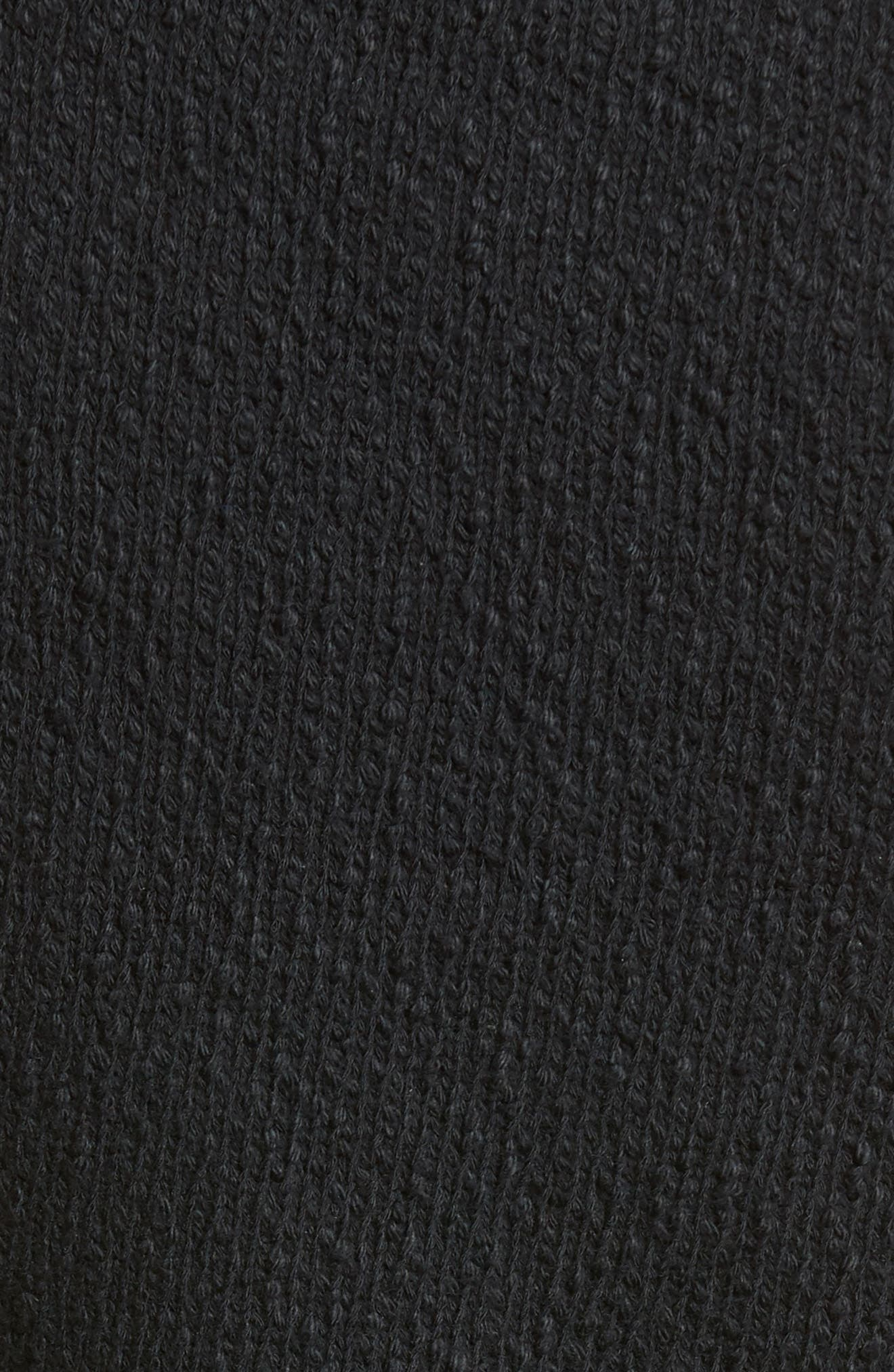 Twist Front Sweater Tank Top,                             Alternate thumbnail 7, color,                             Black