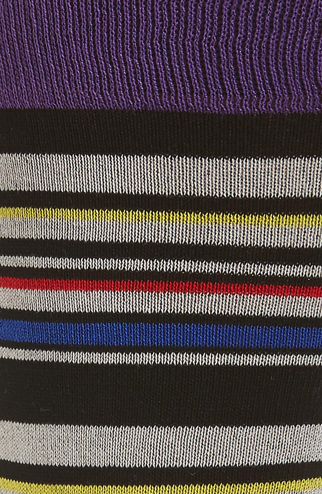 Stripe Socks,                             Alternate thumbnail 2, color,                             Grape