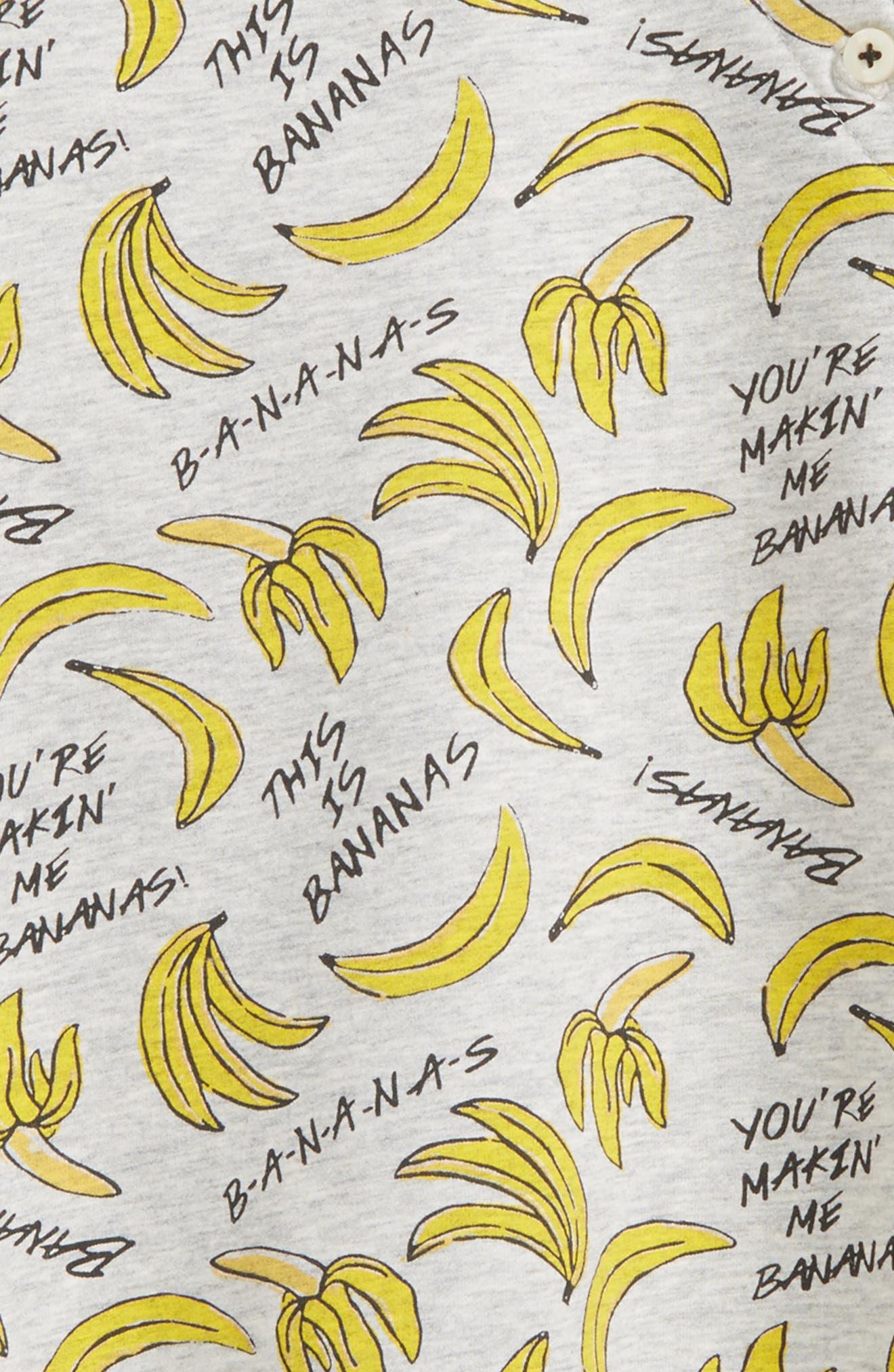Alternate Image 3  - Tucker + Tate Bananas Print Fleece Dress (Baby Girls)