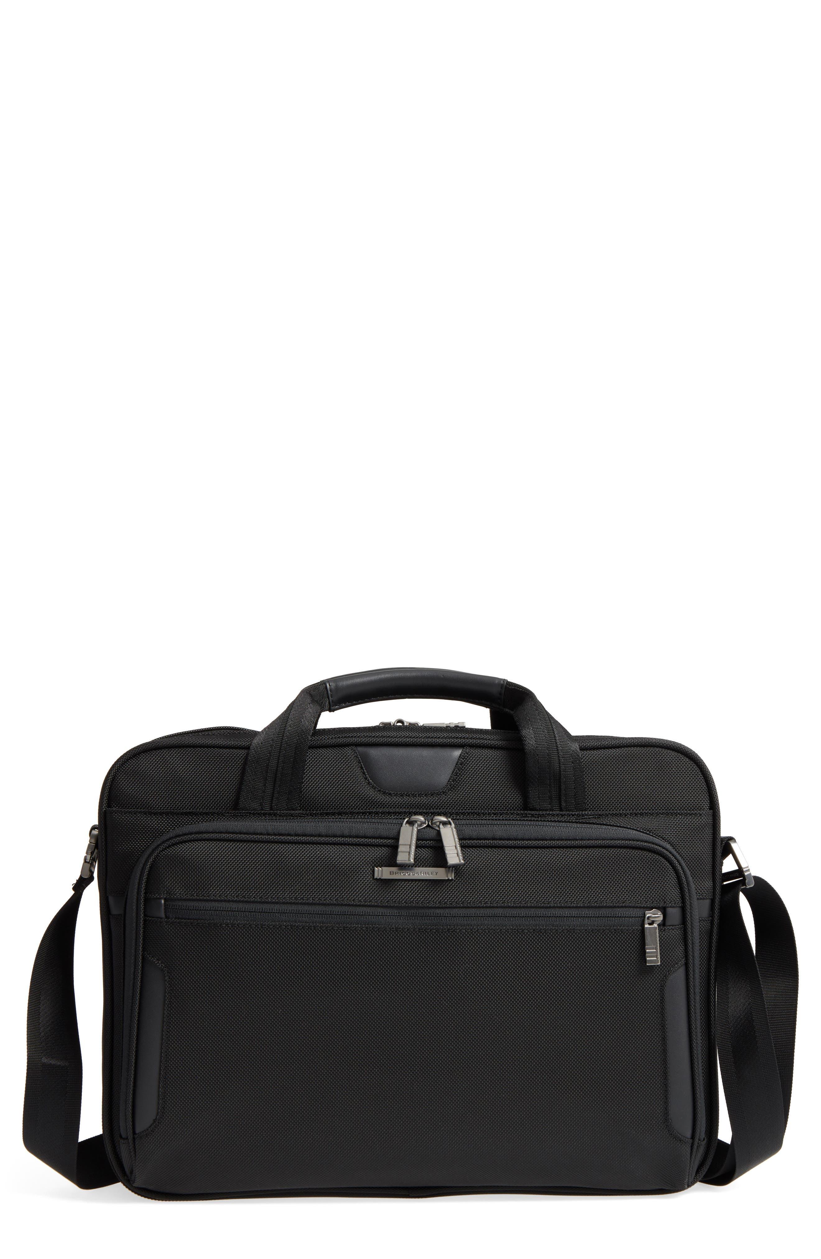 'Medium' Ballistic Nylon Briefcase,                             Main thumbnail 1, color,                             Black
