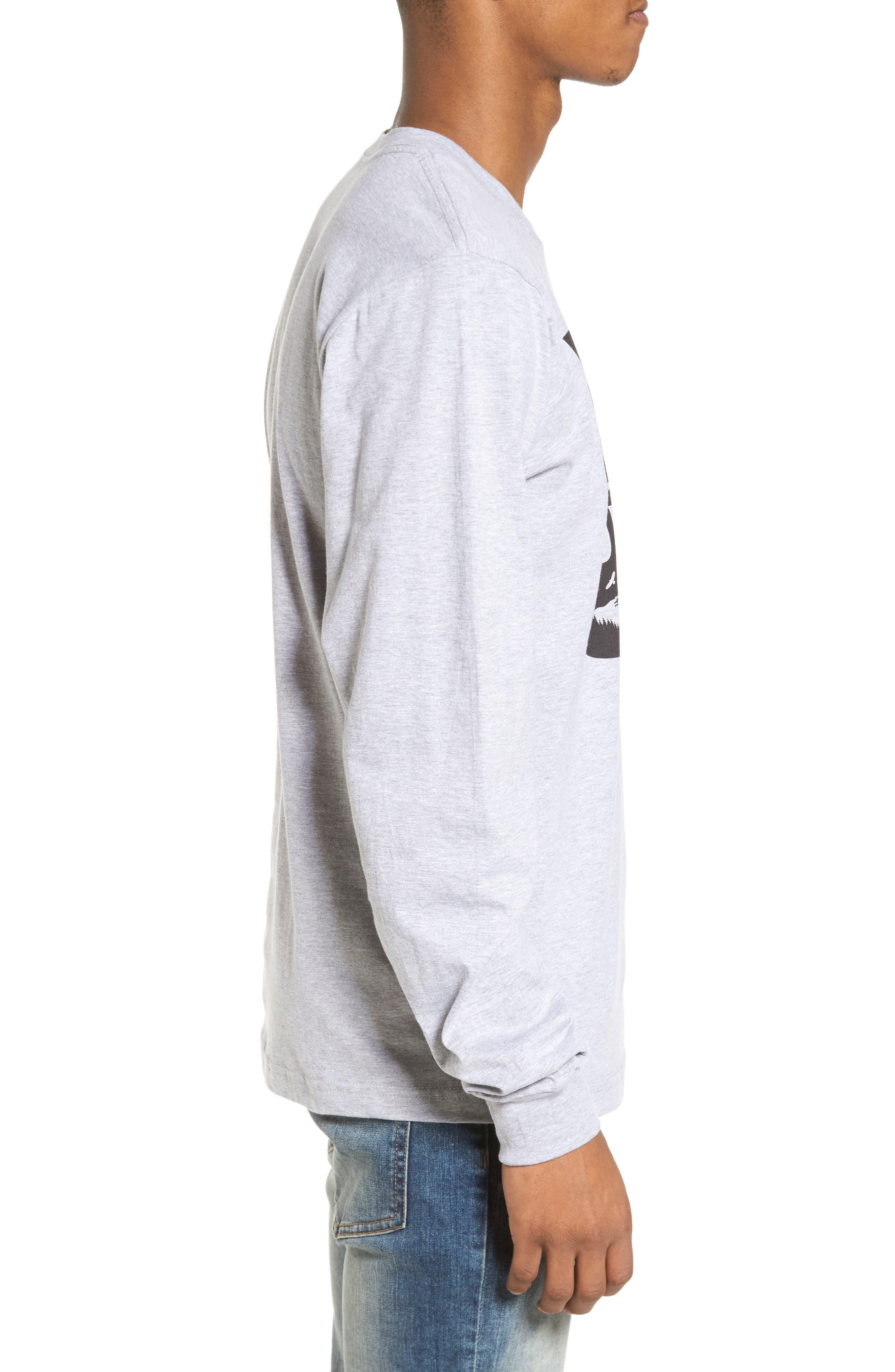 PNW Shield Sweatshirt,                             Alternate thumbnail 3, color,                             Heather Grey