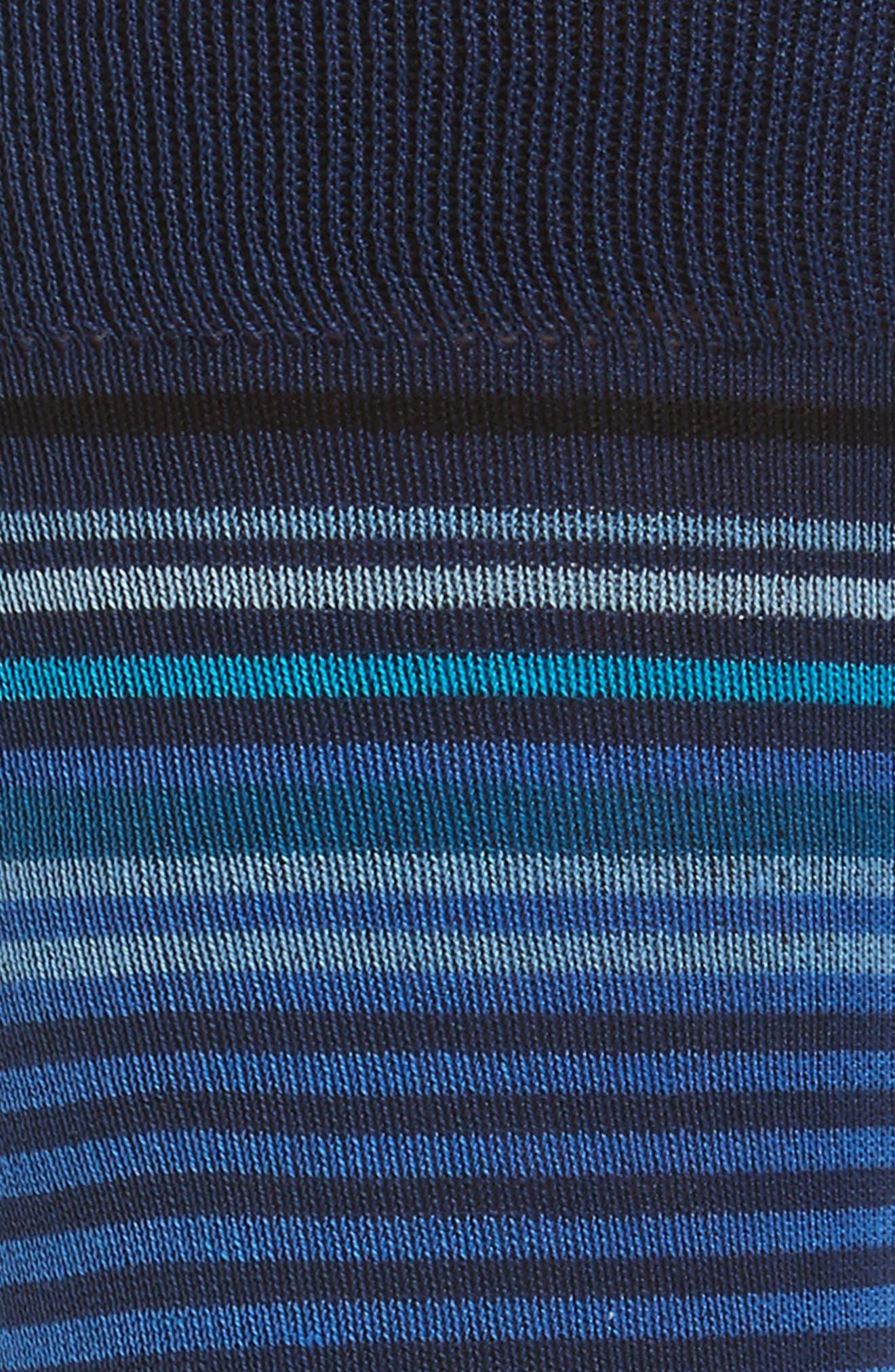 Stripe Crew Socks,                             Alternate thumbnail 2, color,                             Classic Blue