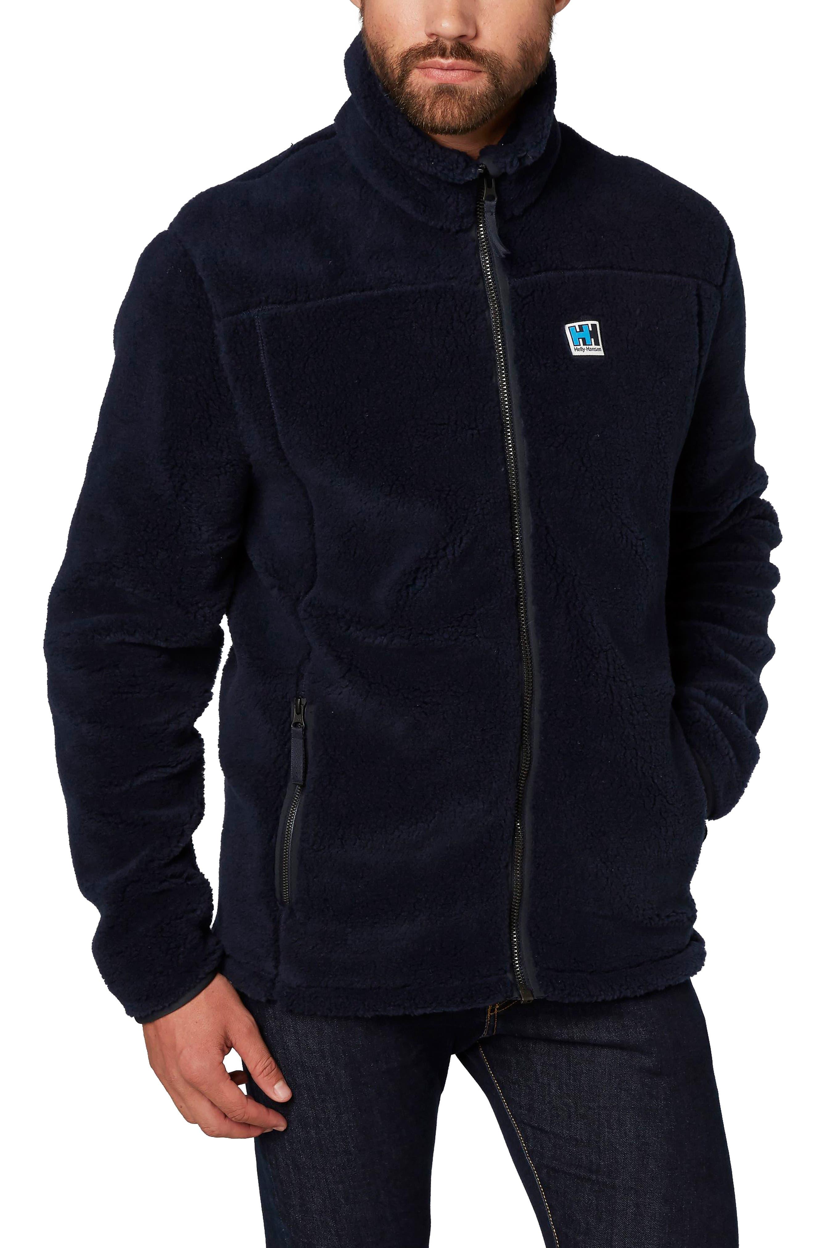 Heritage Pile Fleece Jacket,                             Main thumbnail 1, color,                             Navy
