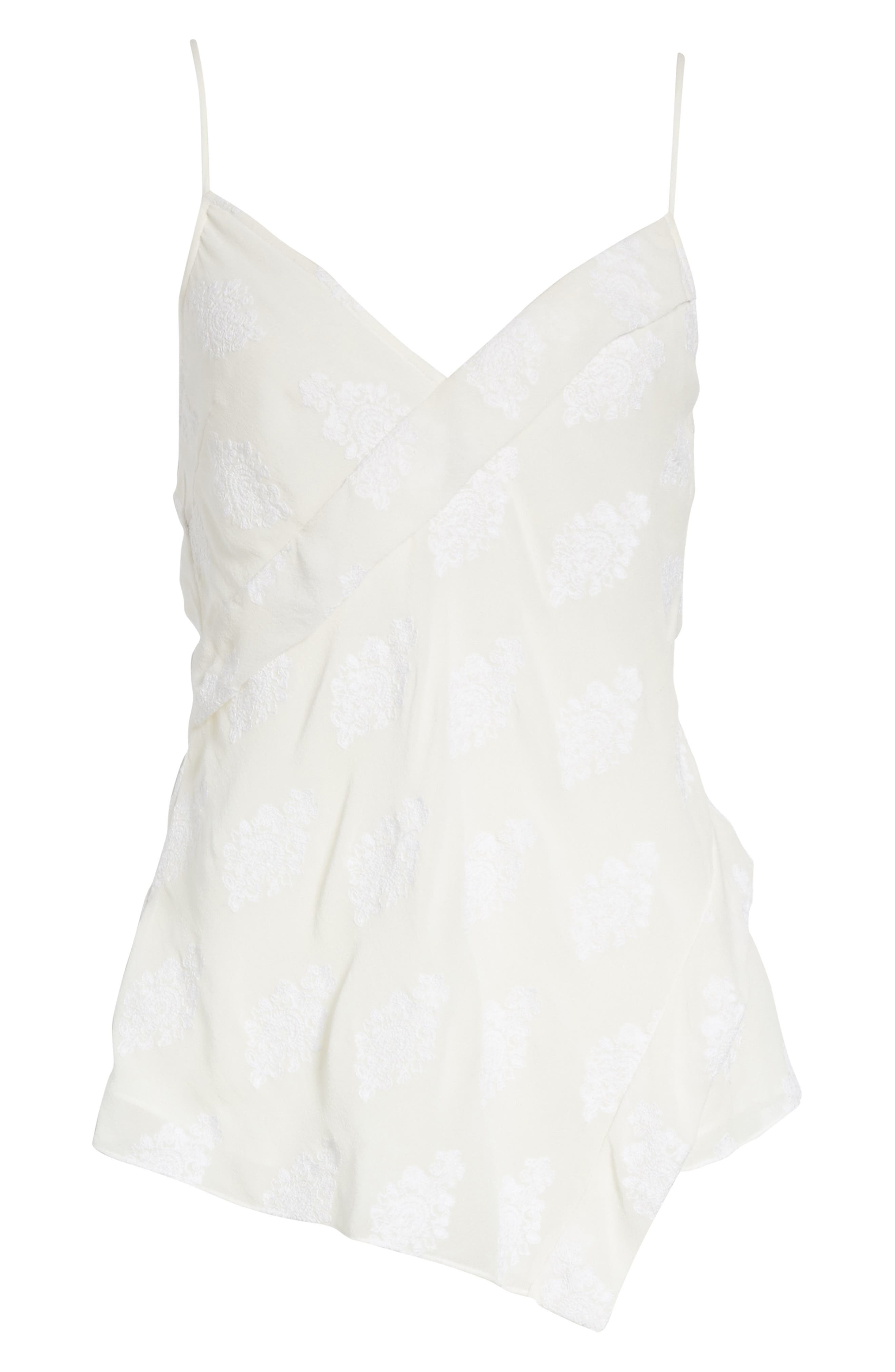 C2.Co Crossover Camisole,                             Alternate thumbnail 6, color,                             White/ White