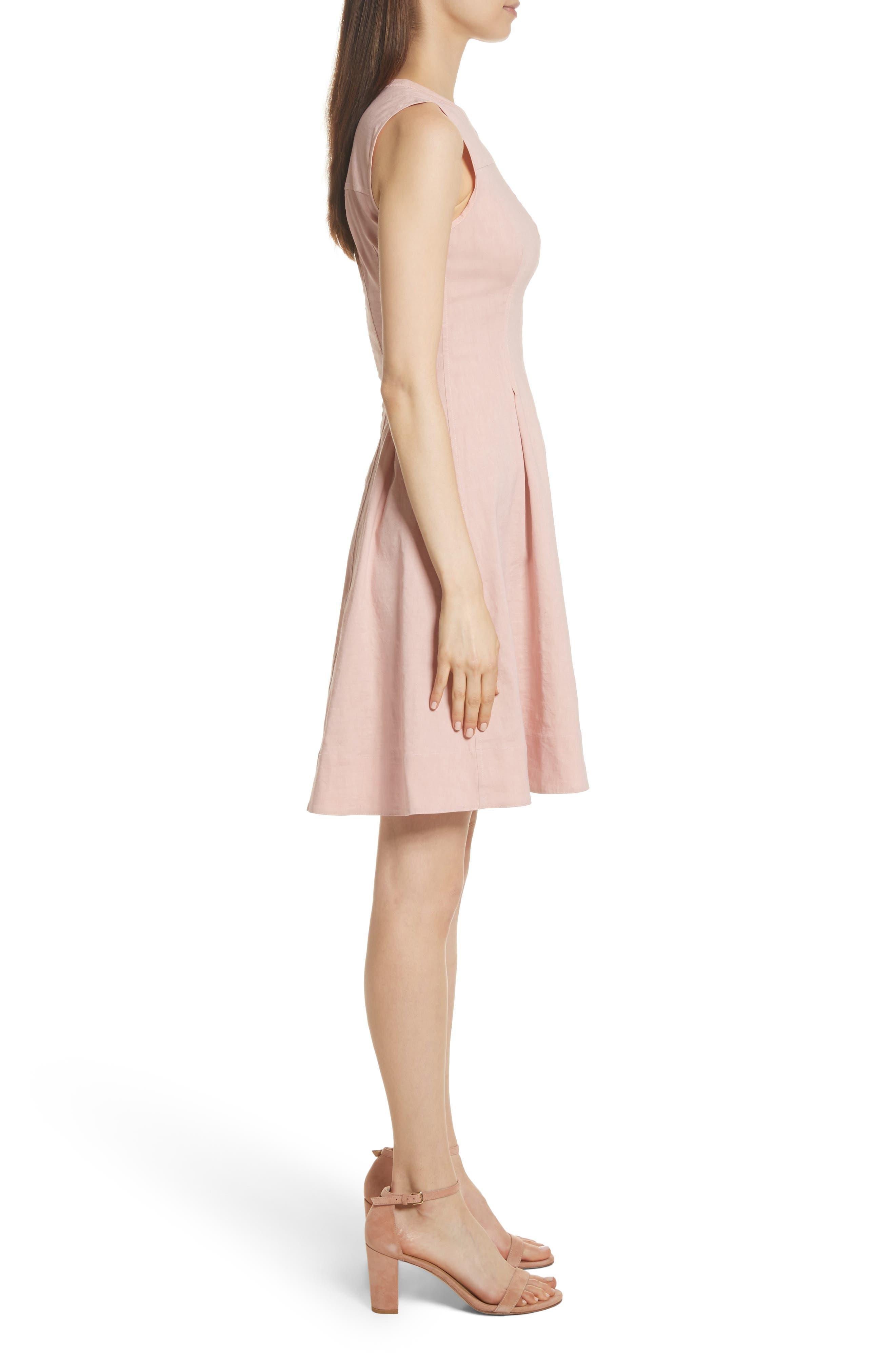 Modern Tea Dress,                             Alternate thumbnail 3, color,                             Pink Ballet