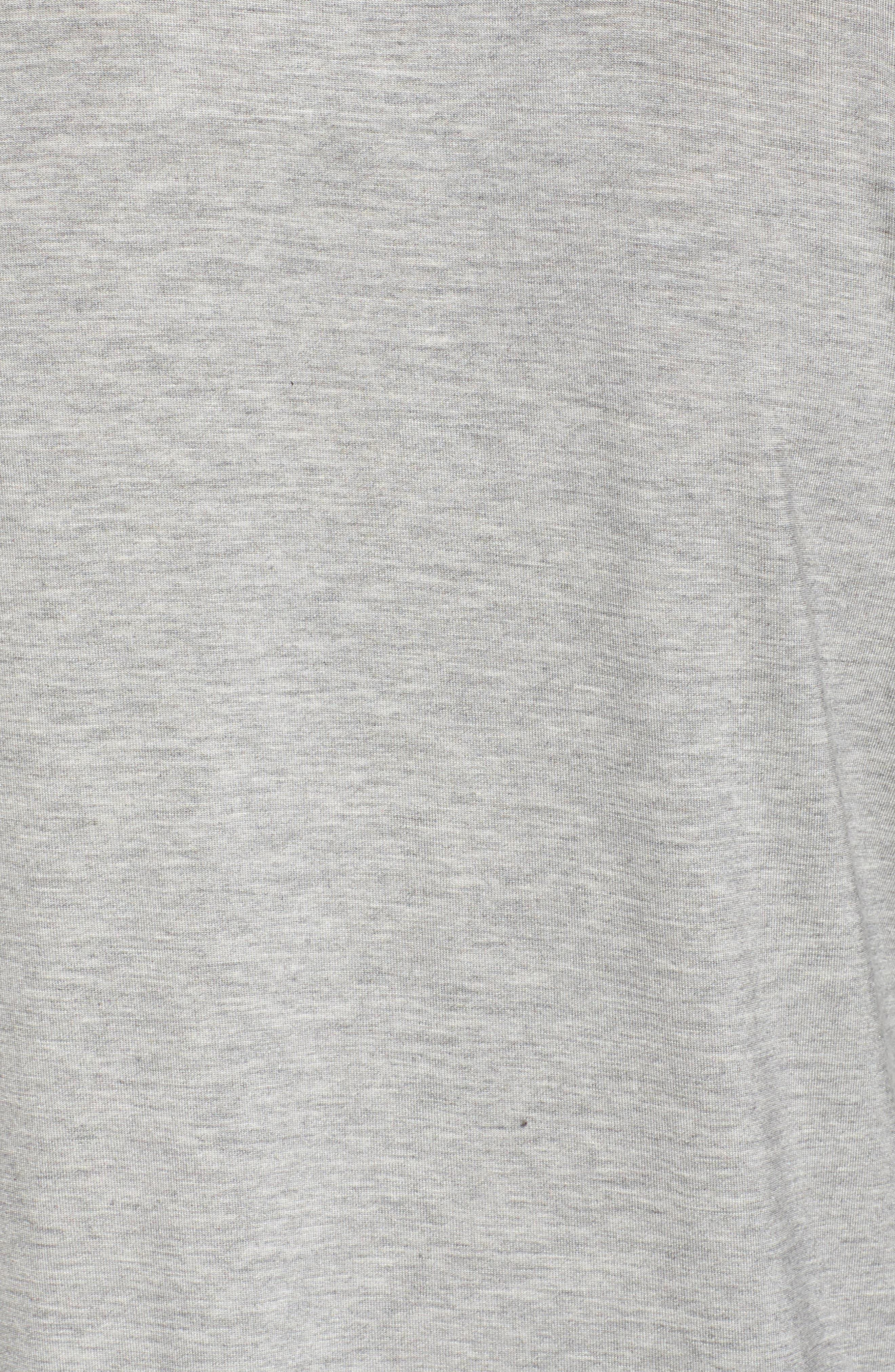 Jersey Pajamas,                             Alternate thumbnail 5, color,                             Heather Grey Feeder Stripe