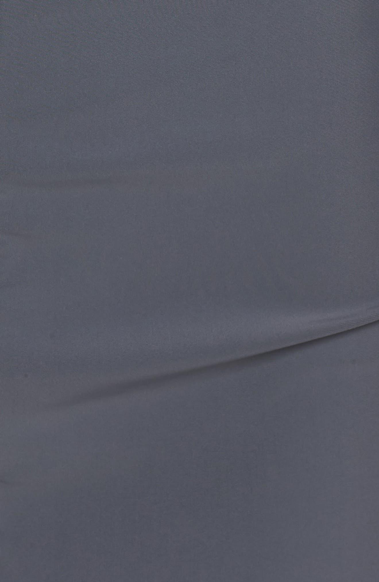 Zip Cover-Up Swim Dress,                             Alternate thumbnail 5, color,                             Grey