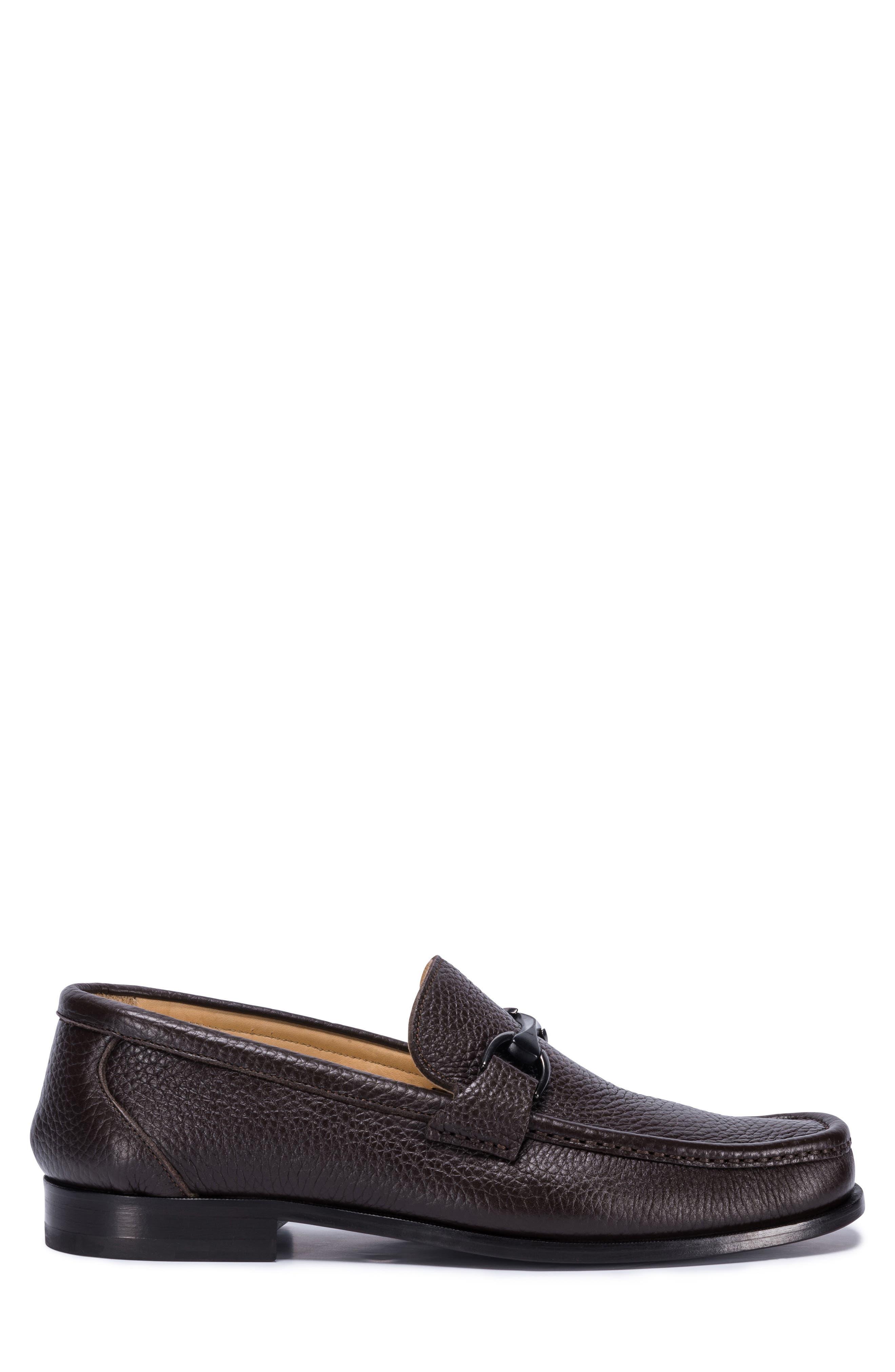 Padua Bit Loafer,                             Alternate thumbnail 3, color,                             Brown Leather