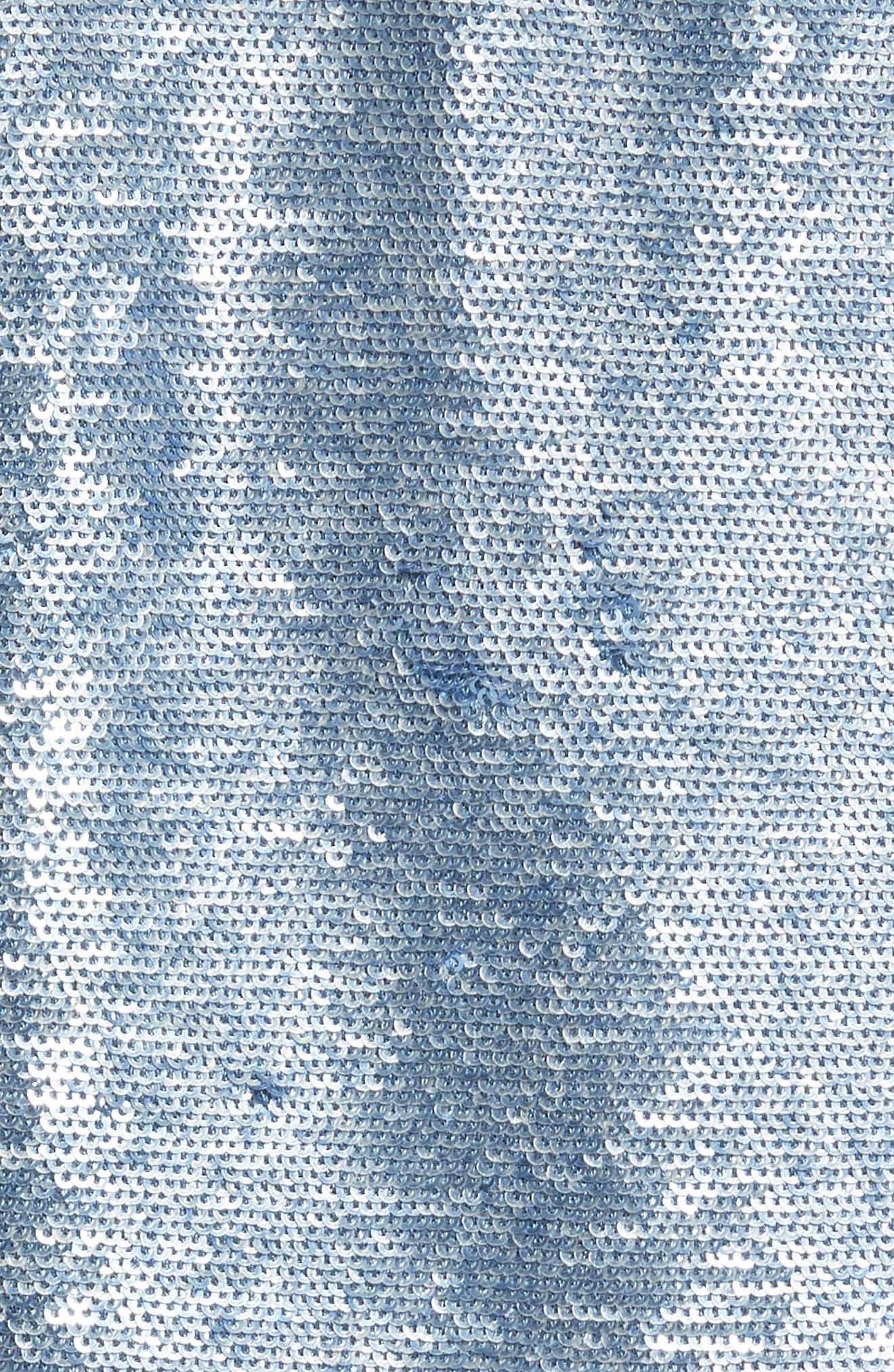 Dalome Sequin Jacket,                             Alternate thumbnail 5, color,                             Blushed Blue