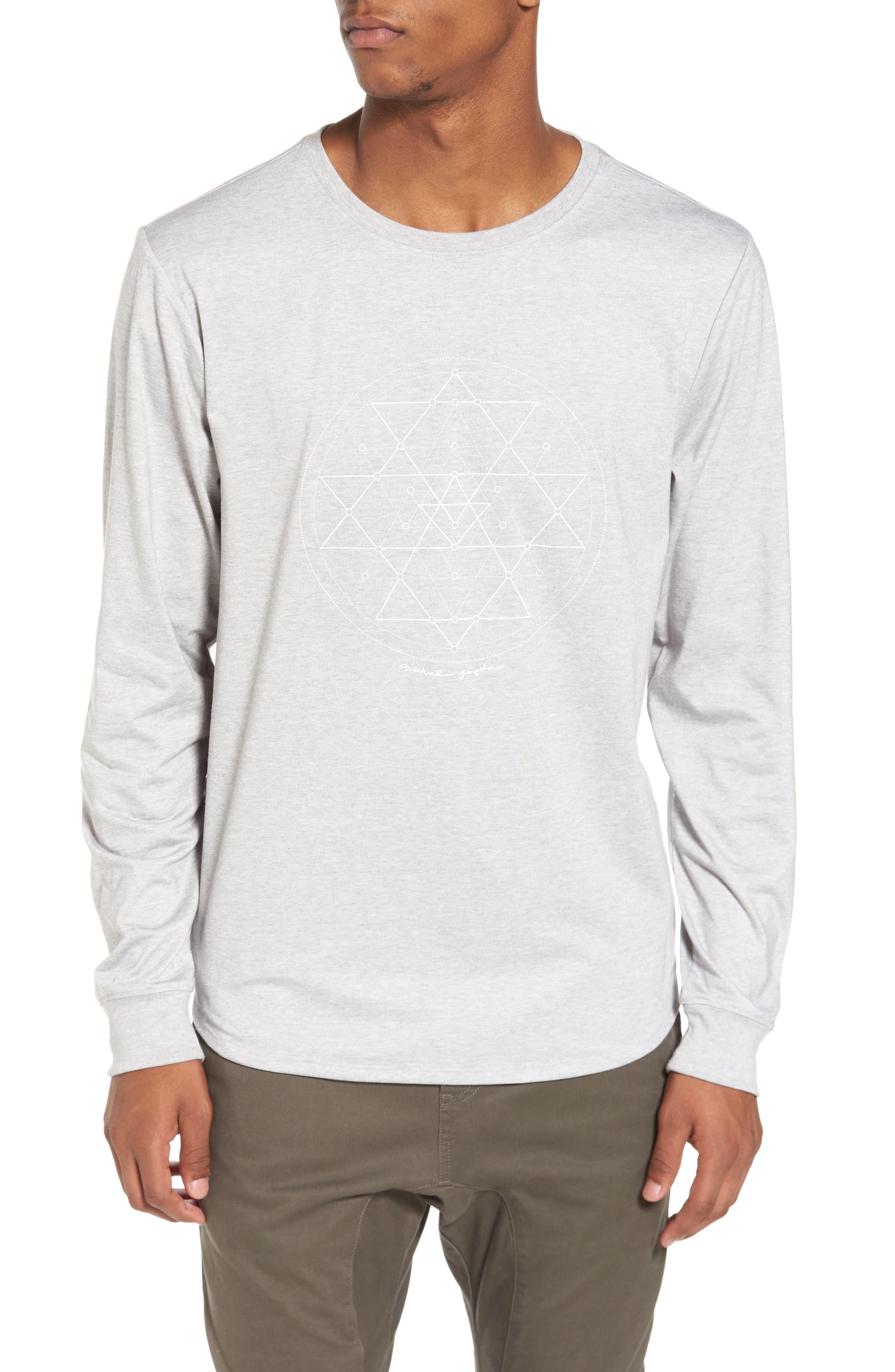 Yantra Long Sleeve T-Shirt,                             Main thumbnail 1, color,                             Heather Grey/ Heather Grey