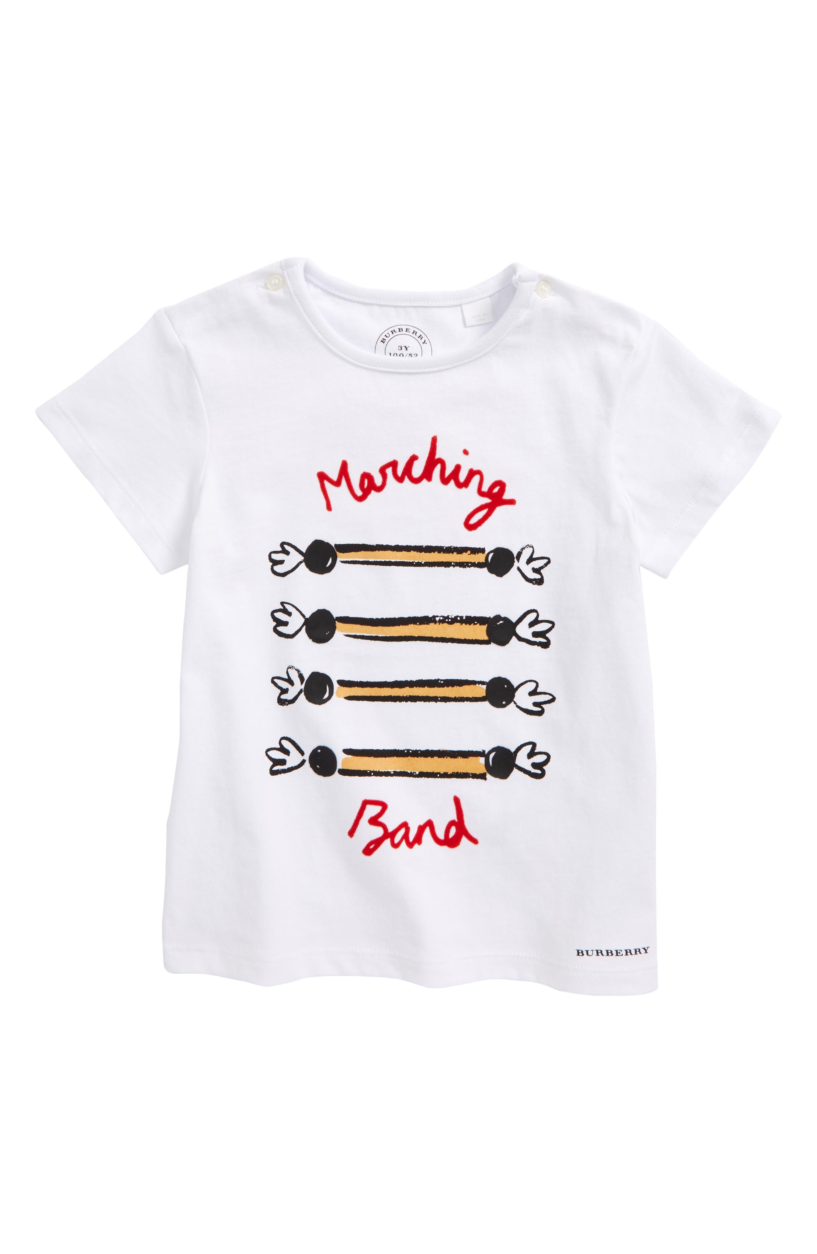 Marching Band Tee,                             Main thumbnail 1, color,                             White