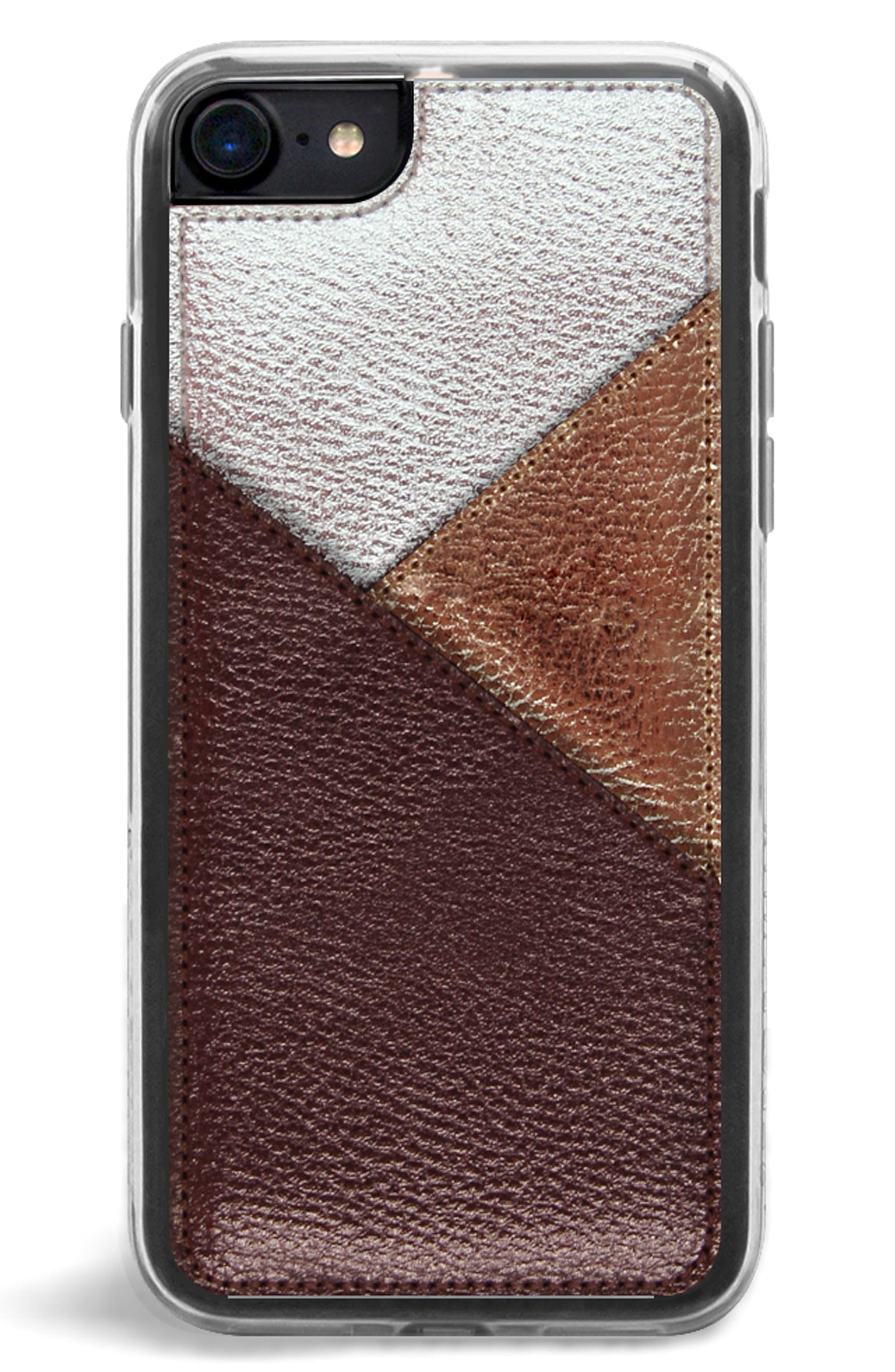 Gilded iPhone 7/8 & 7/8 Plus,                             Alternate thumbnail 2, color,                             Bronze Metallic