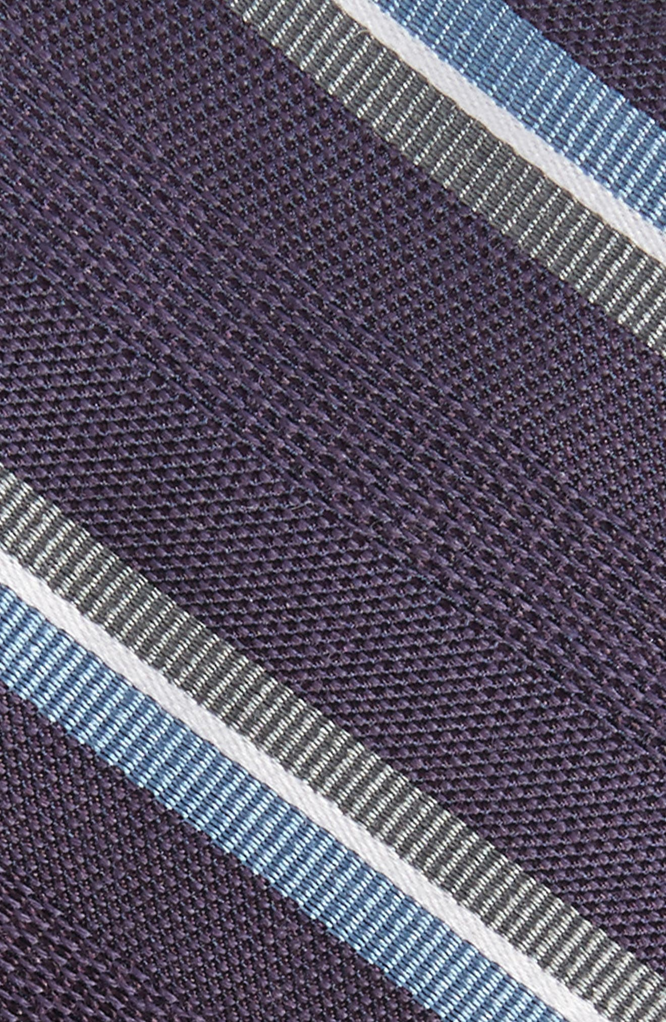 Alternate Image 2  - The Tie Bar Short Cut Stripe Silk & Wool Skinny Tie