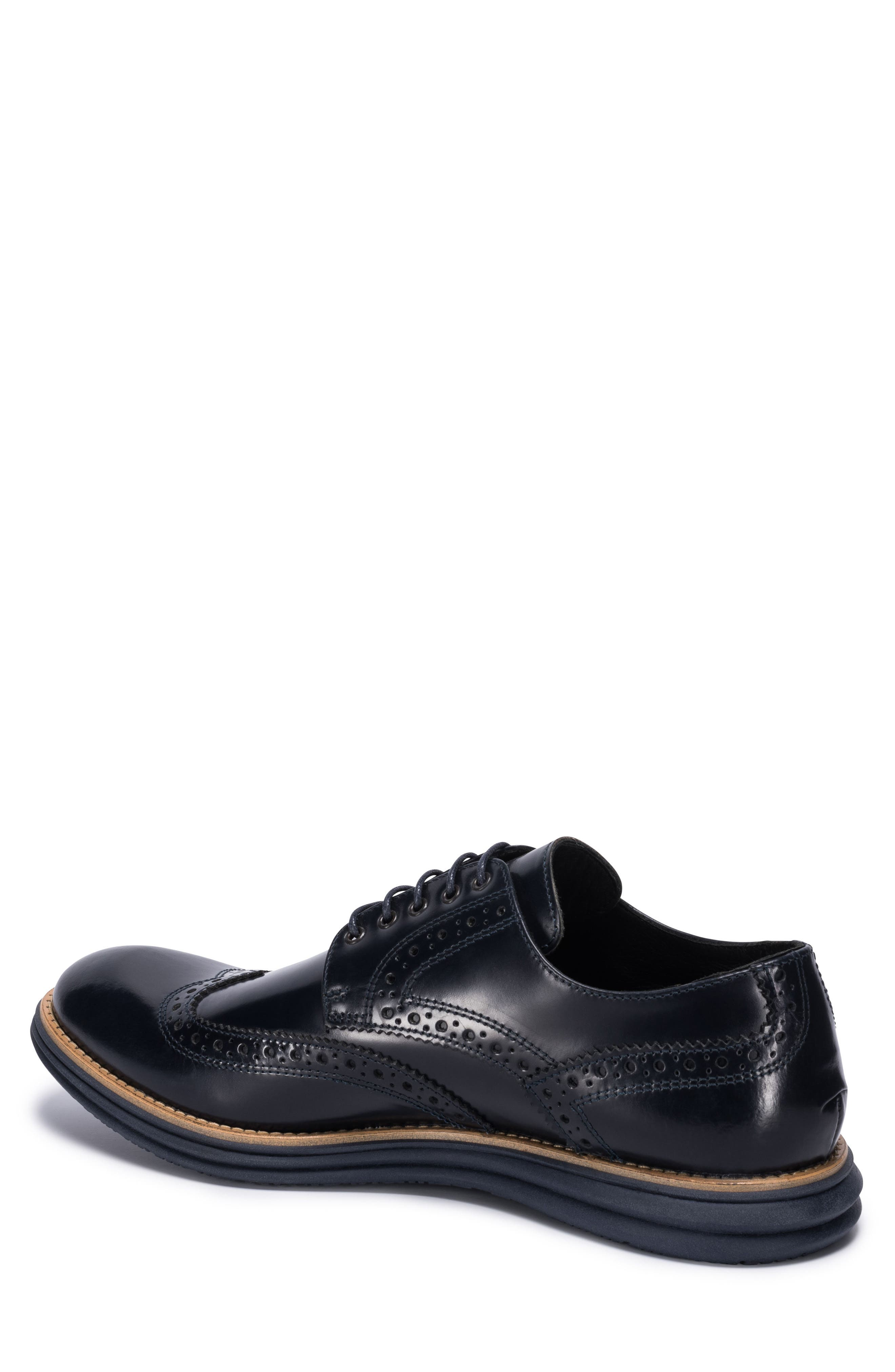 Novara Wingtip Derby,                             Alternate thumbnail 2, color,                             Navy Leather