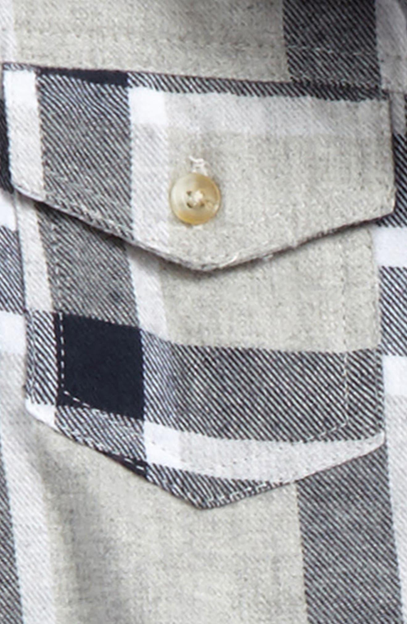 Plaid Flannel Shirt,                             Alternate thumbnail 2, color,                             Navy Plaid