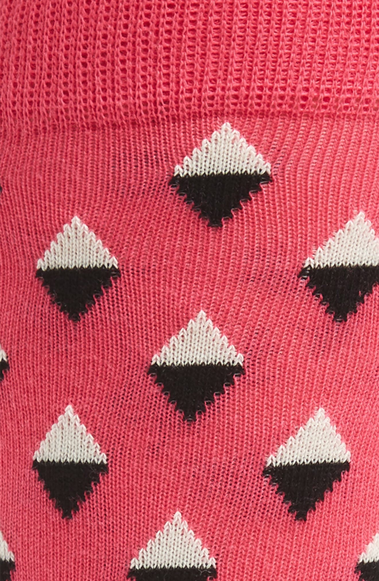 Geometric Socks,                             Alternate thumbnail 2, color,                             Pink/ White