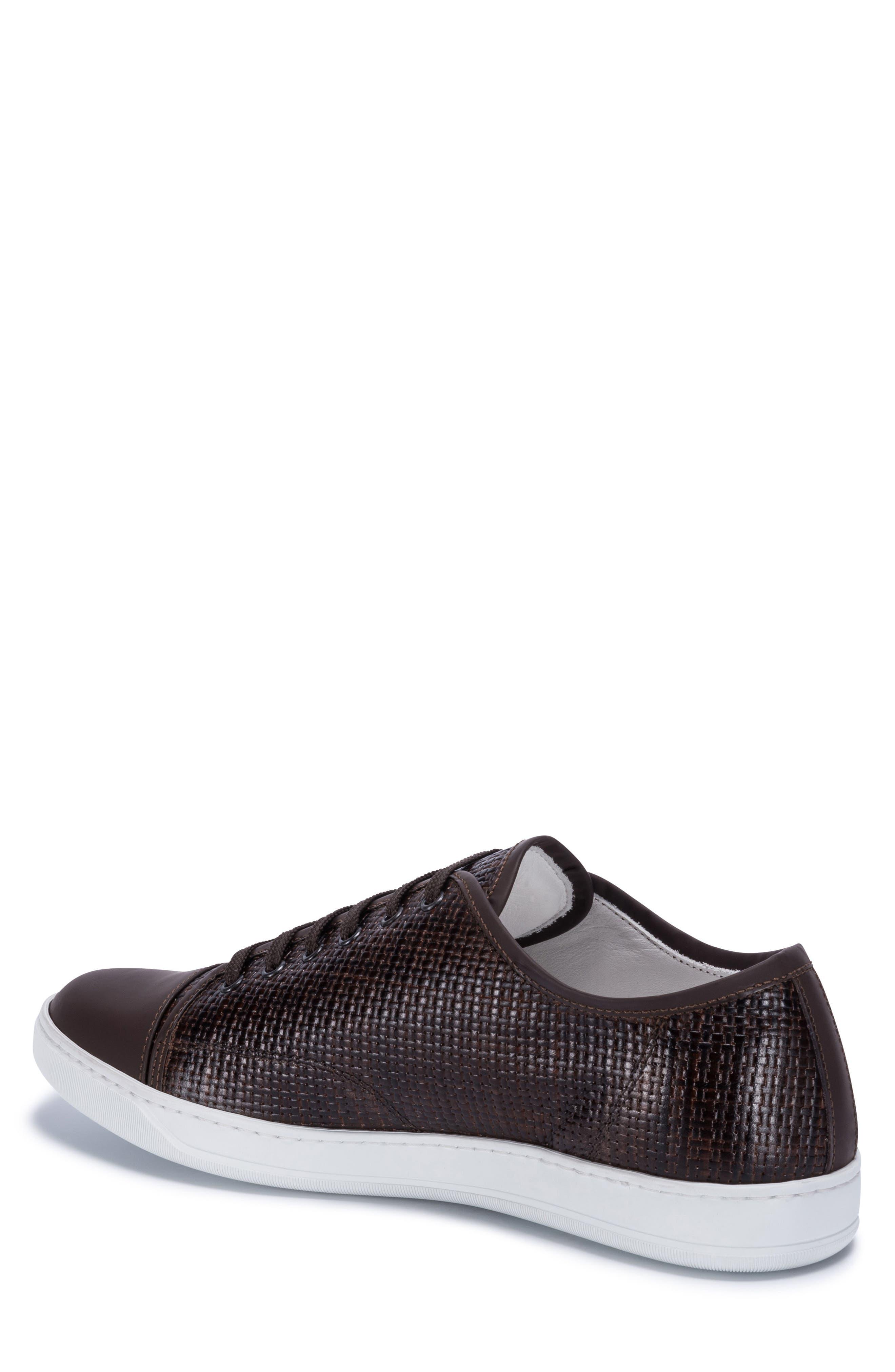 Cinque Terre Woven Cap Toe Sneaker,                             Alternate thumbnail 2, color,                             Brown Leather