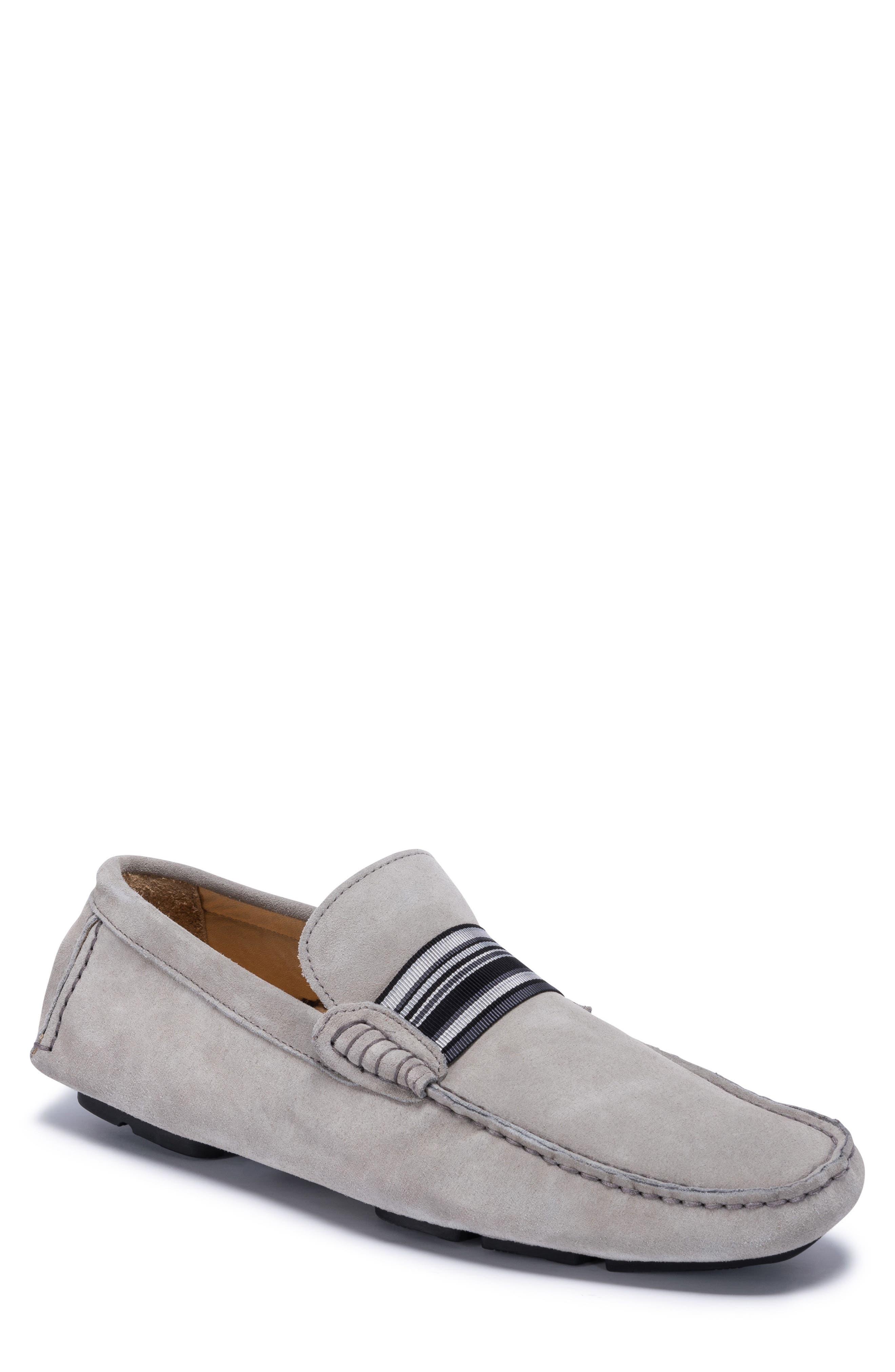 St. Tropez Driving Shoe,                             Main thumbnail 1, color,                             Grey Suede