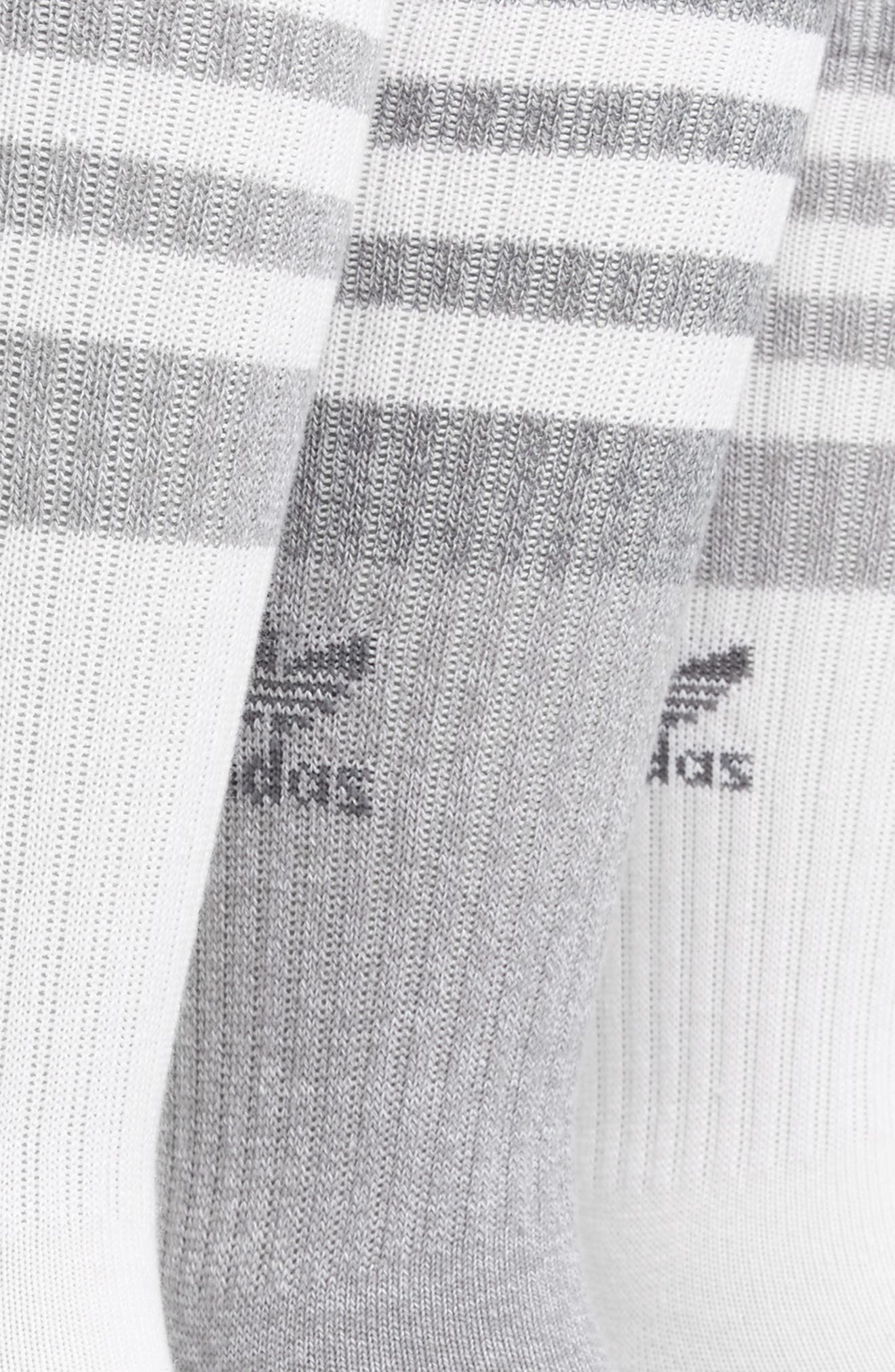 Alternate Image 2  - adidas Originals 3-Pack Stripe Crew Socks