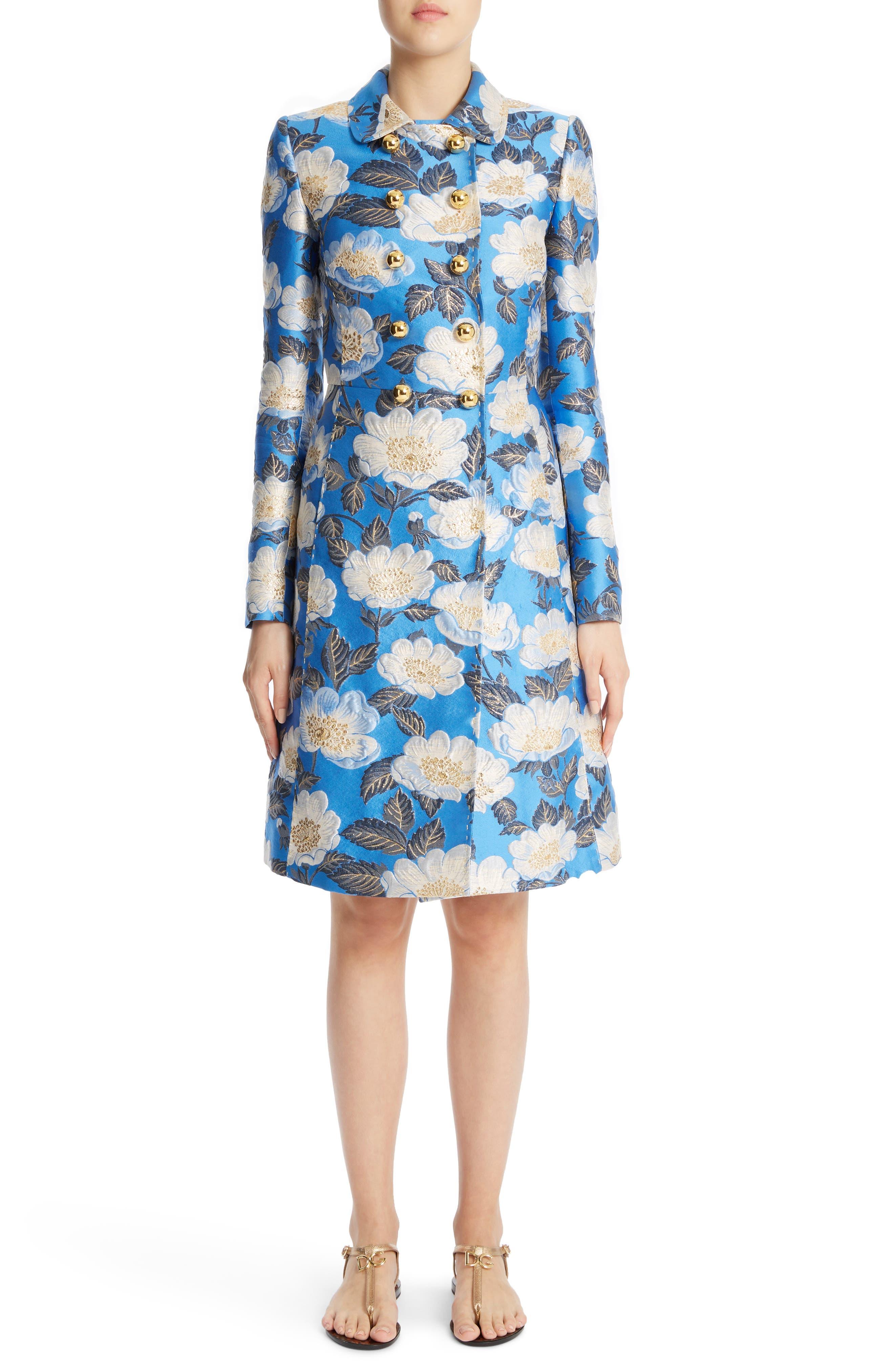 Dolce&Gabbana Floral Brocade Coat