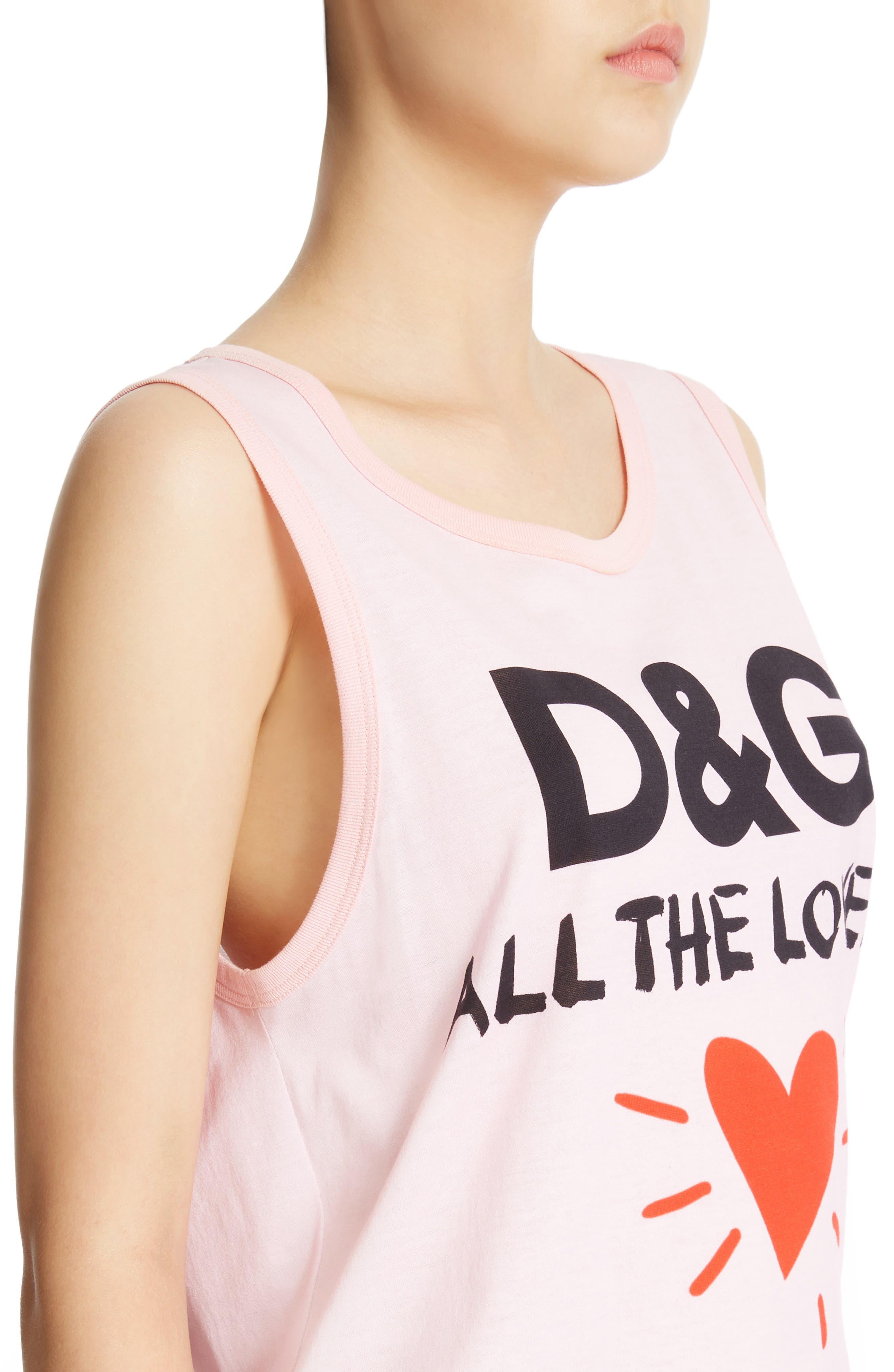 Alternate Image 4  - Dolce&Gabbana Lovers Graphic Tank Top