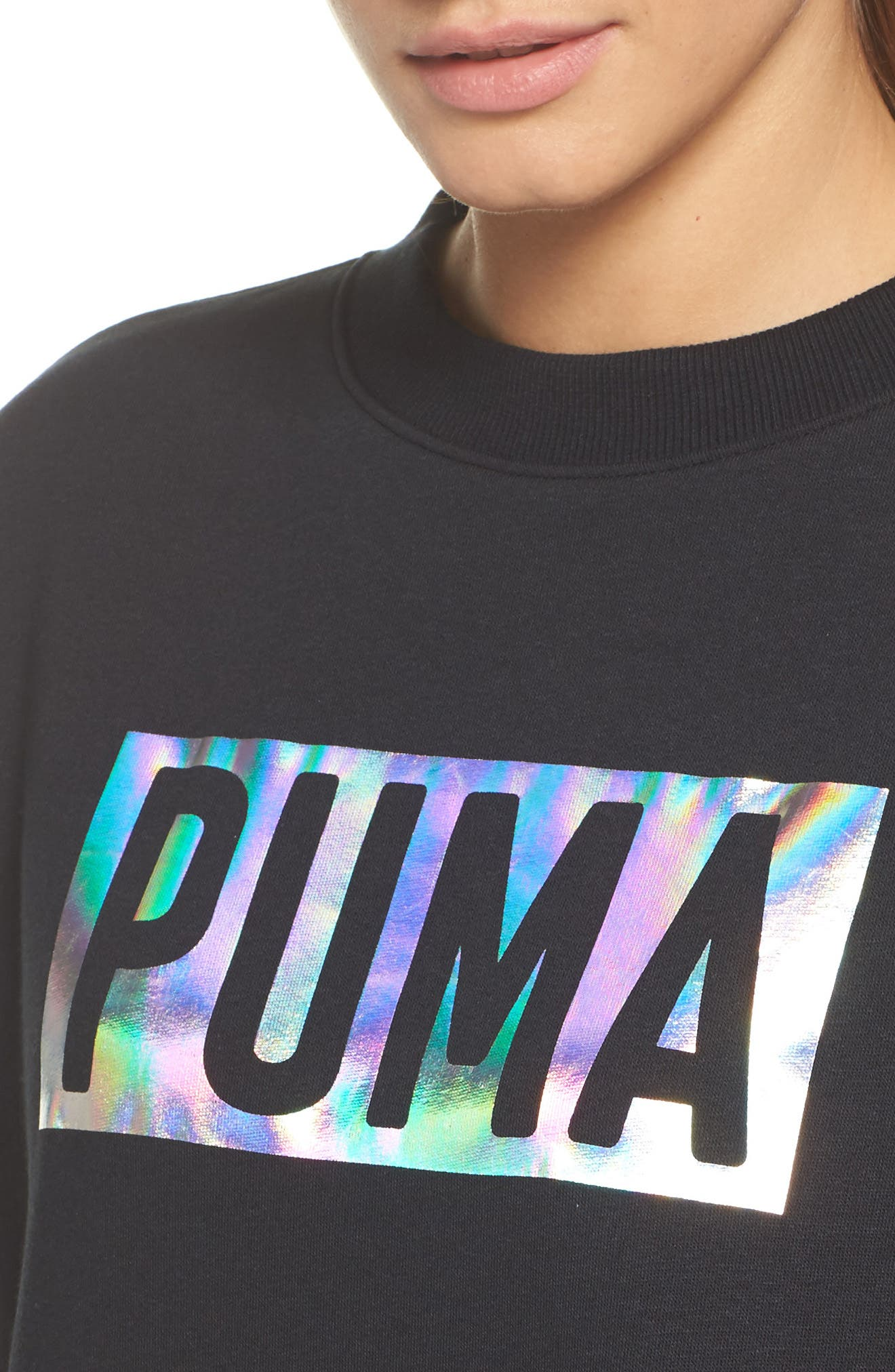 Alternate Image 4  - PUMA Fusion Sweatshirt Dress