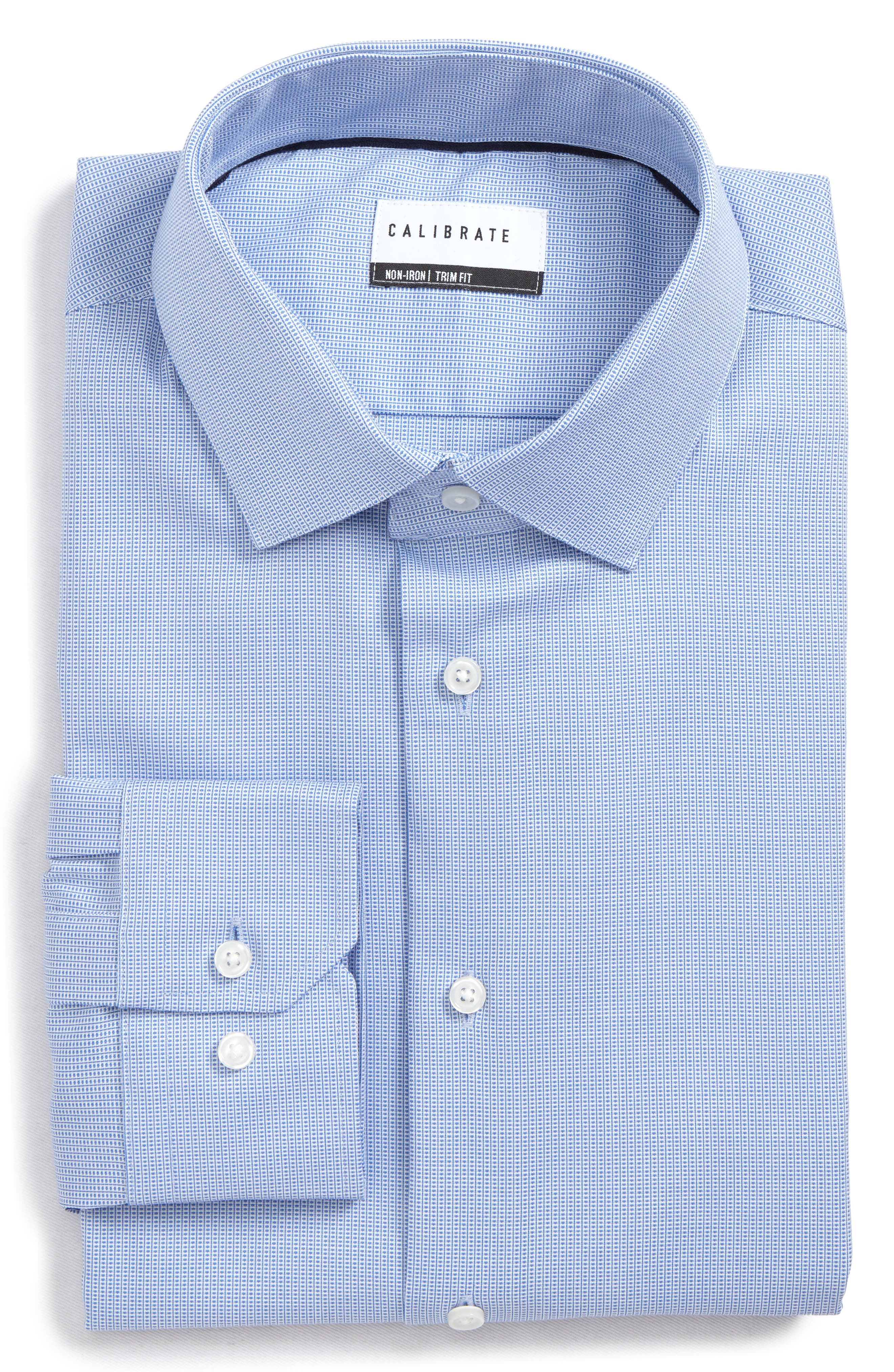 Alternate Image 1 Selected - Calibrate Trim Fit Non-Iron Stretch Dress Shirt