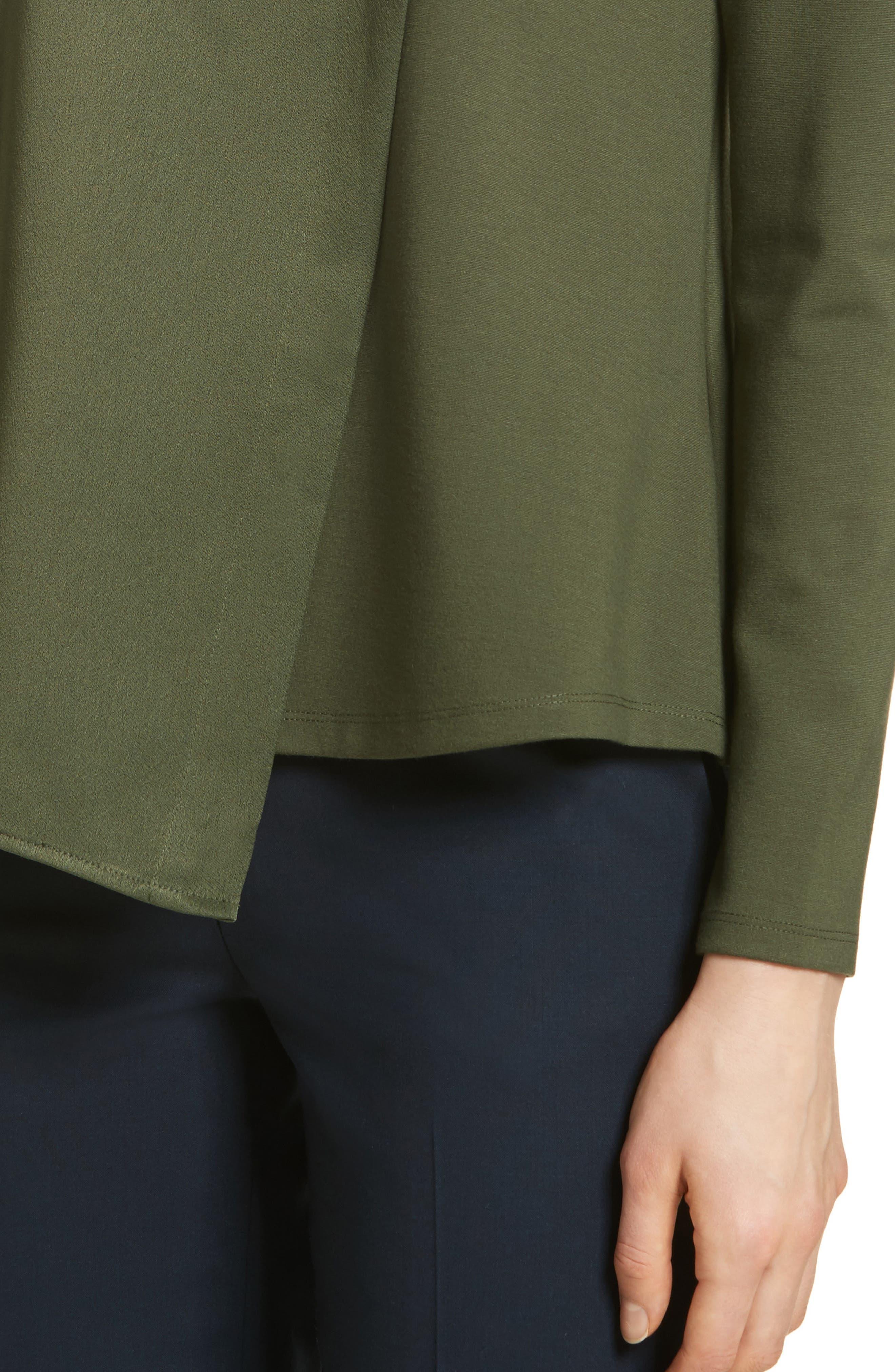 Asymmetrical Layer Top,                             Alternate thumbnail 4, color,                             Khaki