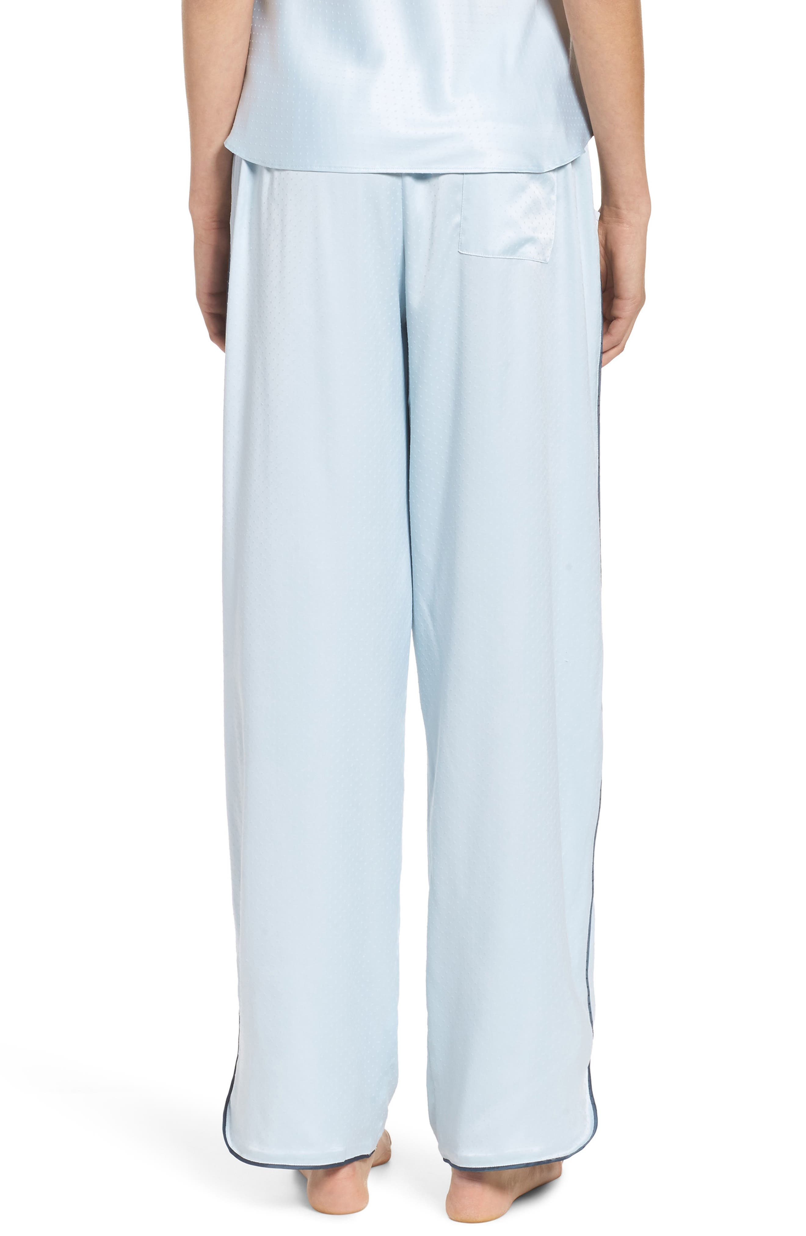 Chelsea27 Late Nights Satin Lounge Pants,                             Alternate thumbnail 2, color,                             Blue Drift