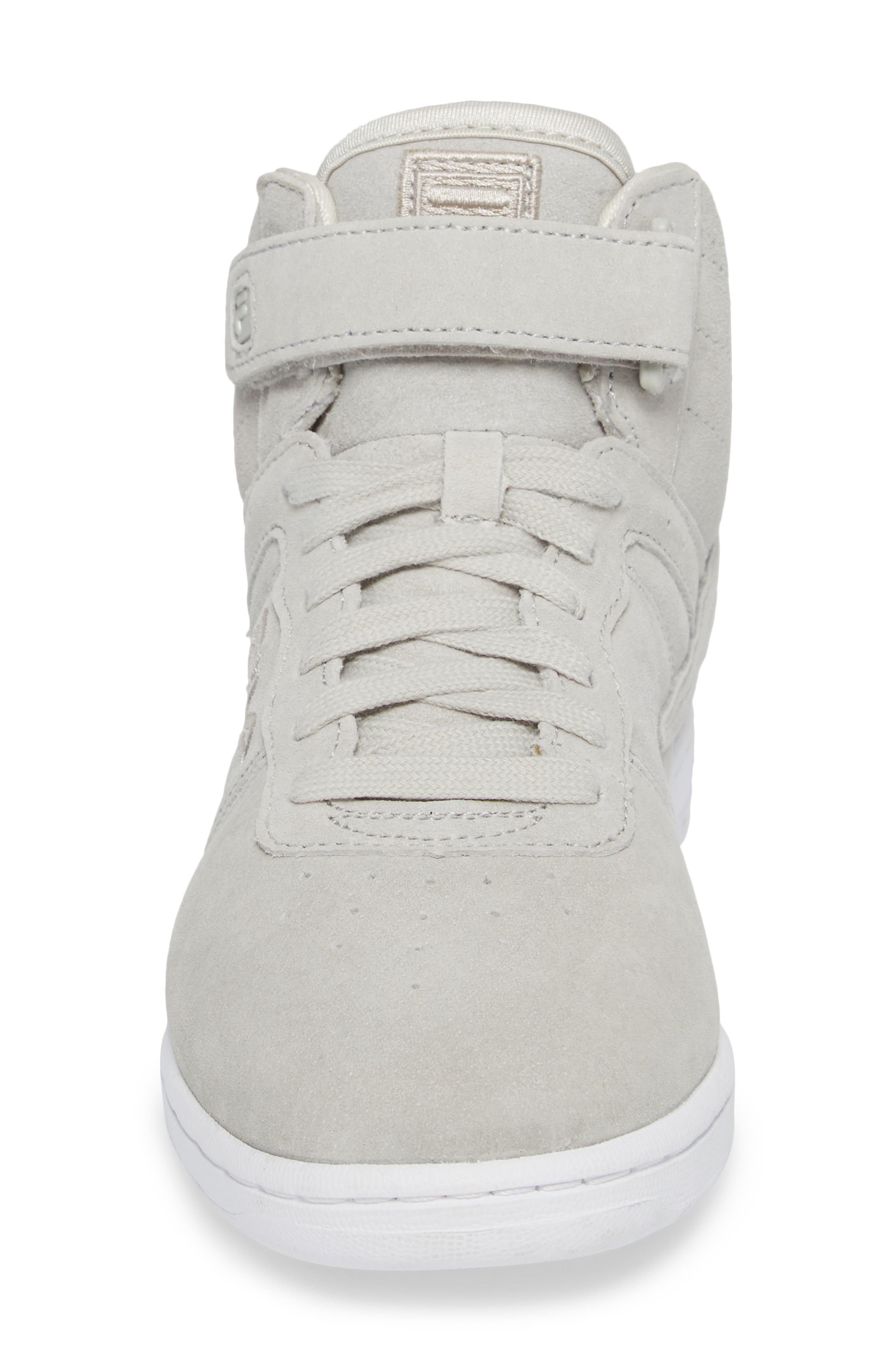 F-13 Premium Mid Top Sneaker,                             Alternate thumbnail 4, color,                             White