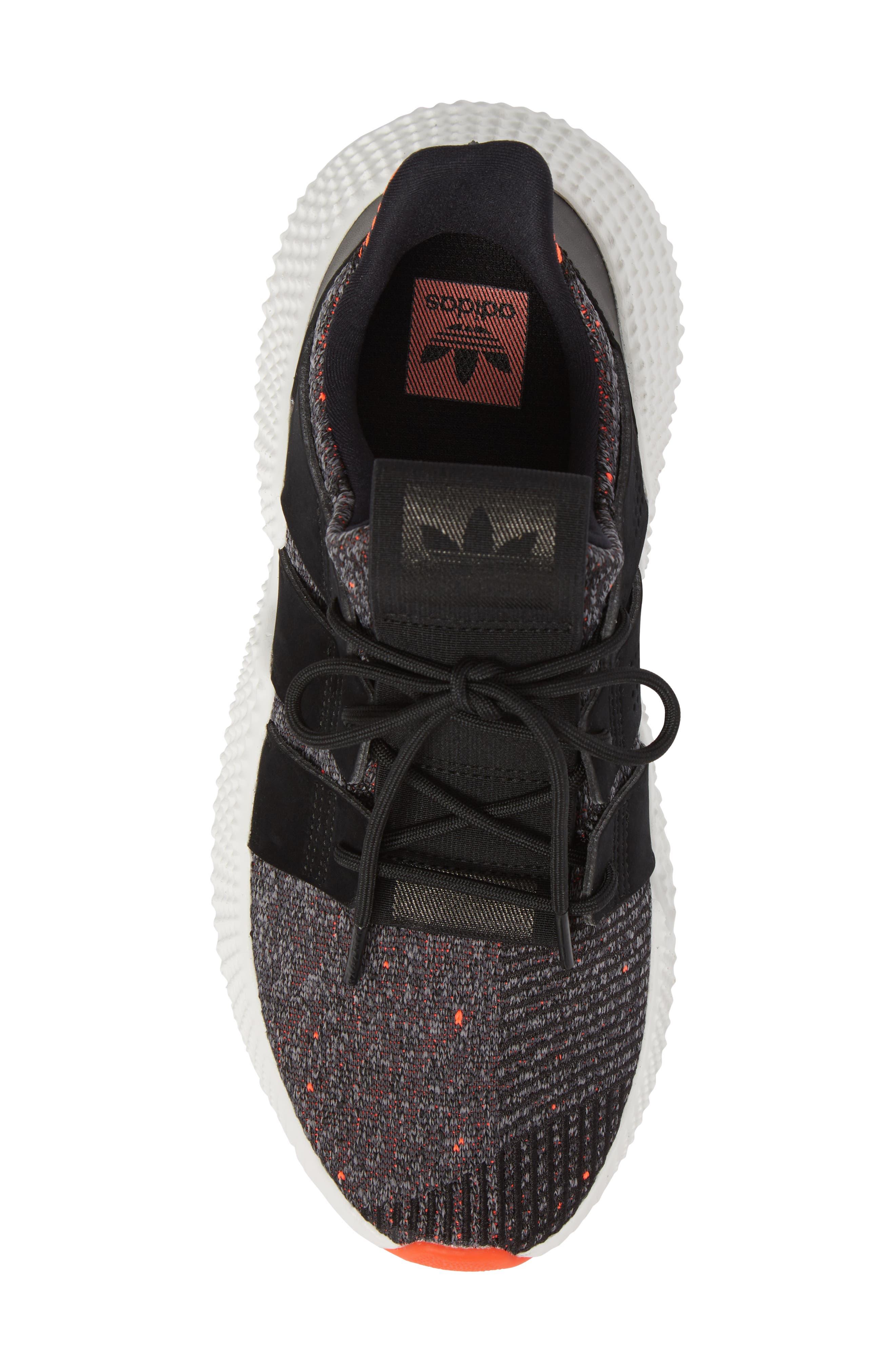 Prophere Sneaker,                             Alternate thumbnail 5, color,                             Black/ Solar Red