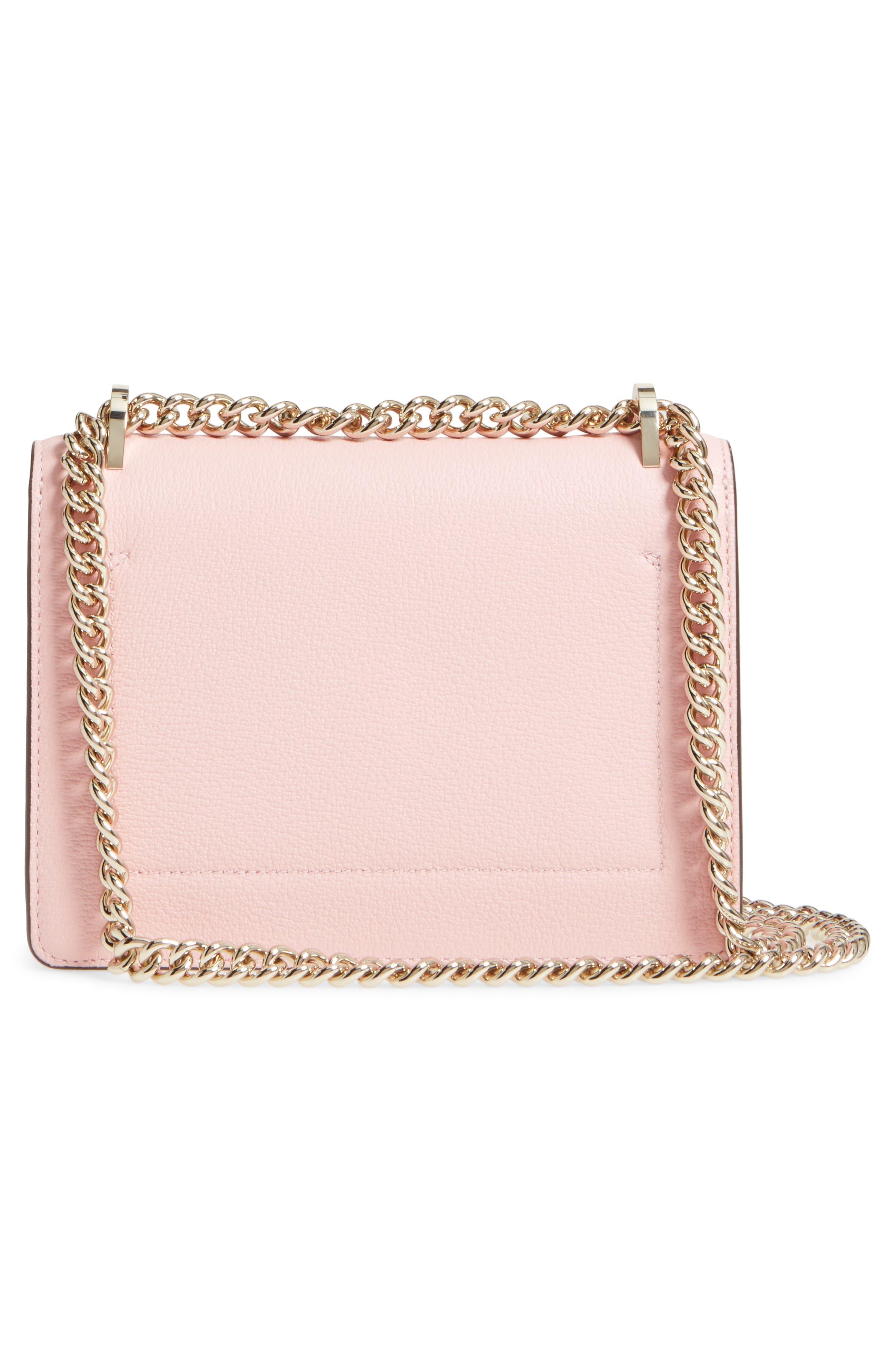 olive drive - marci leather shoulder bag,                             Alternate thumbnail 3, color,                             Rose Jade
