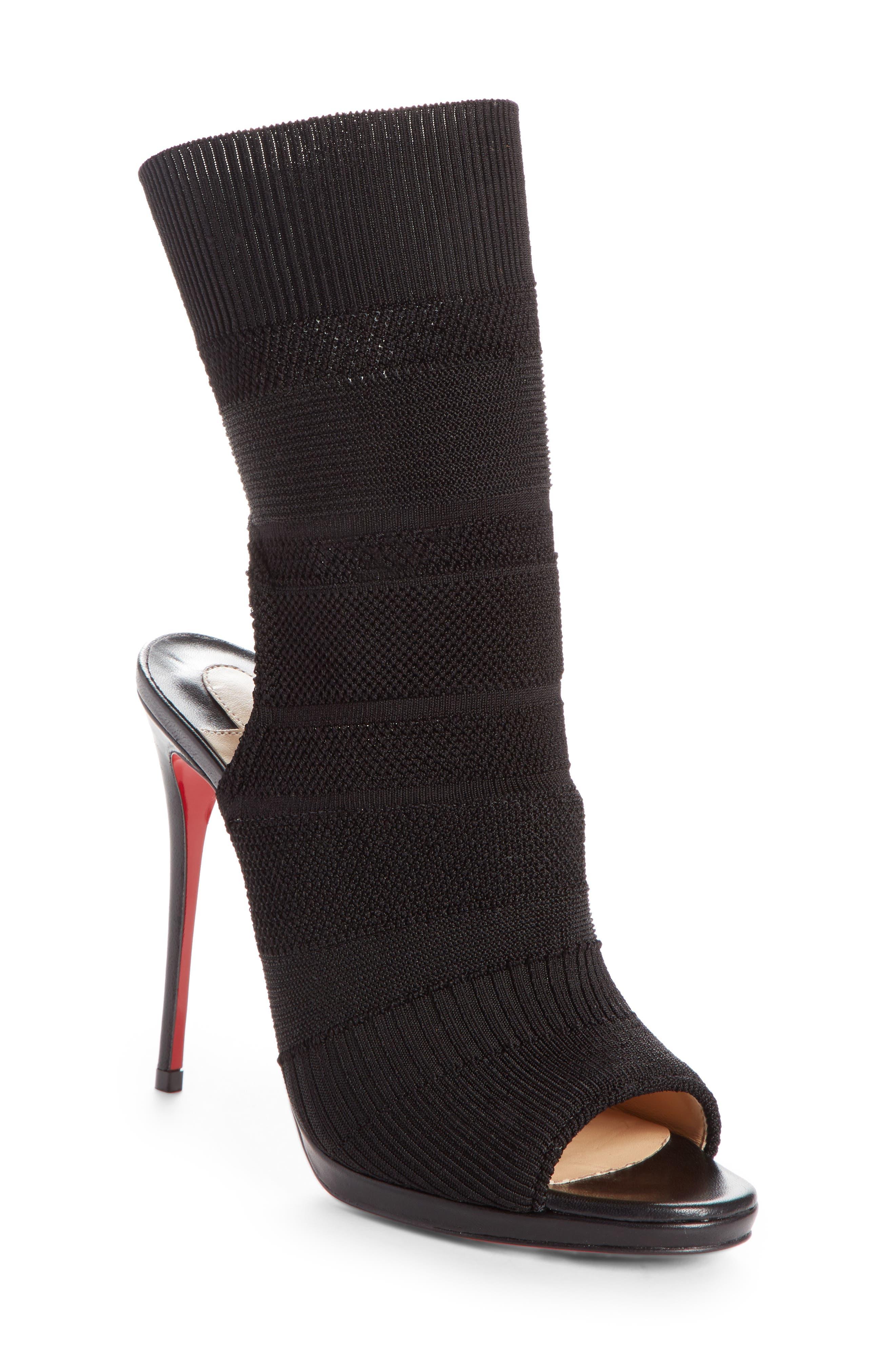 Cheminene Sock Sandal,                         Main,                         color, Black