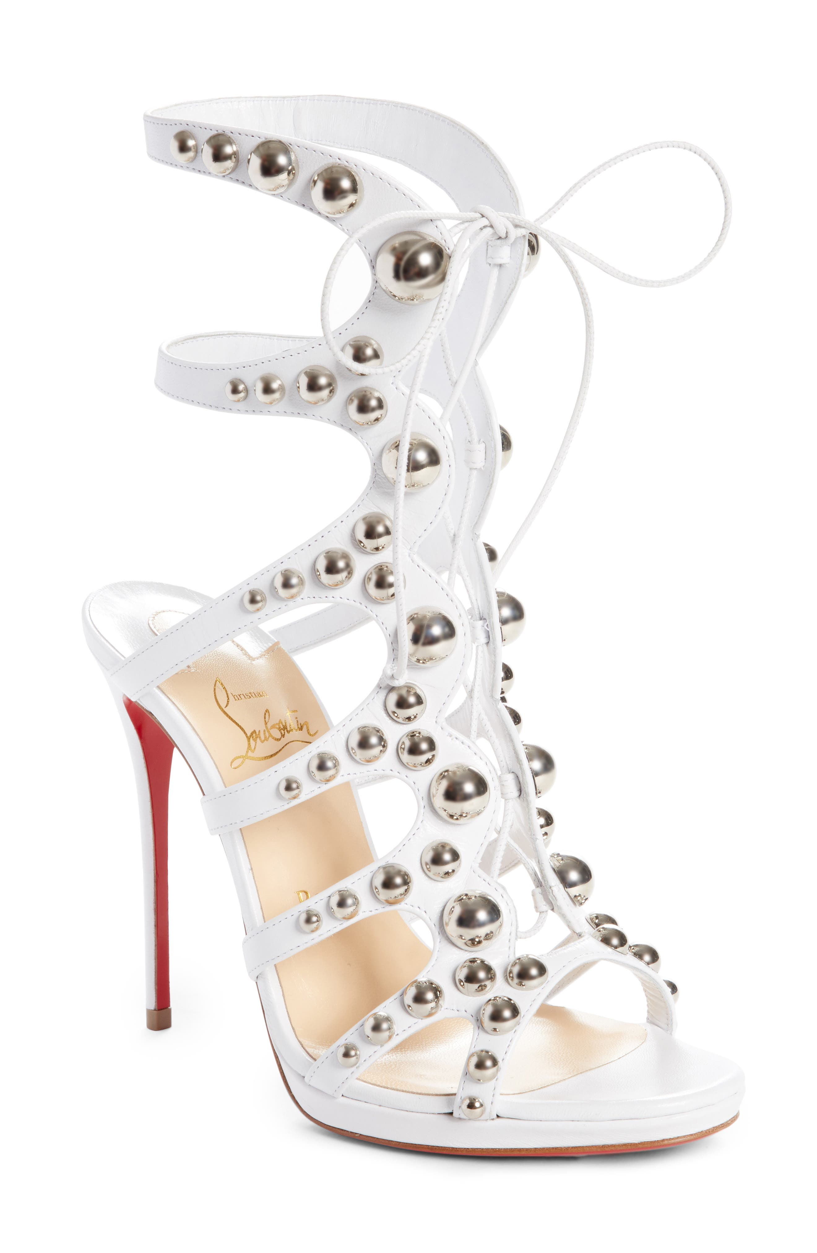 Christian Louboutin Amazoubille Ghillie Cage Sandal (Women)