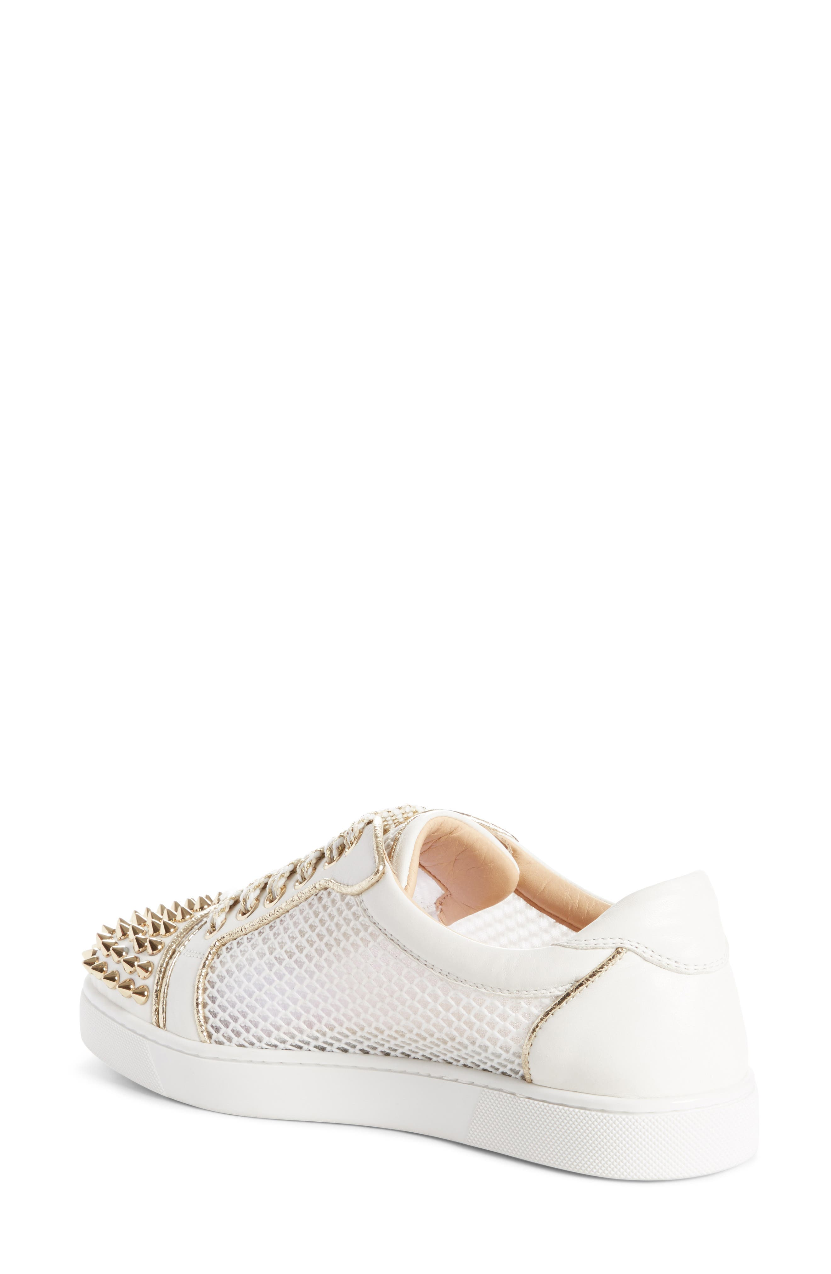 Vieira Spiked Low Top Sneaker,                             Alternate thumbnail 2, color,                             Latte/ Light Gold