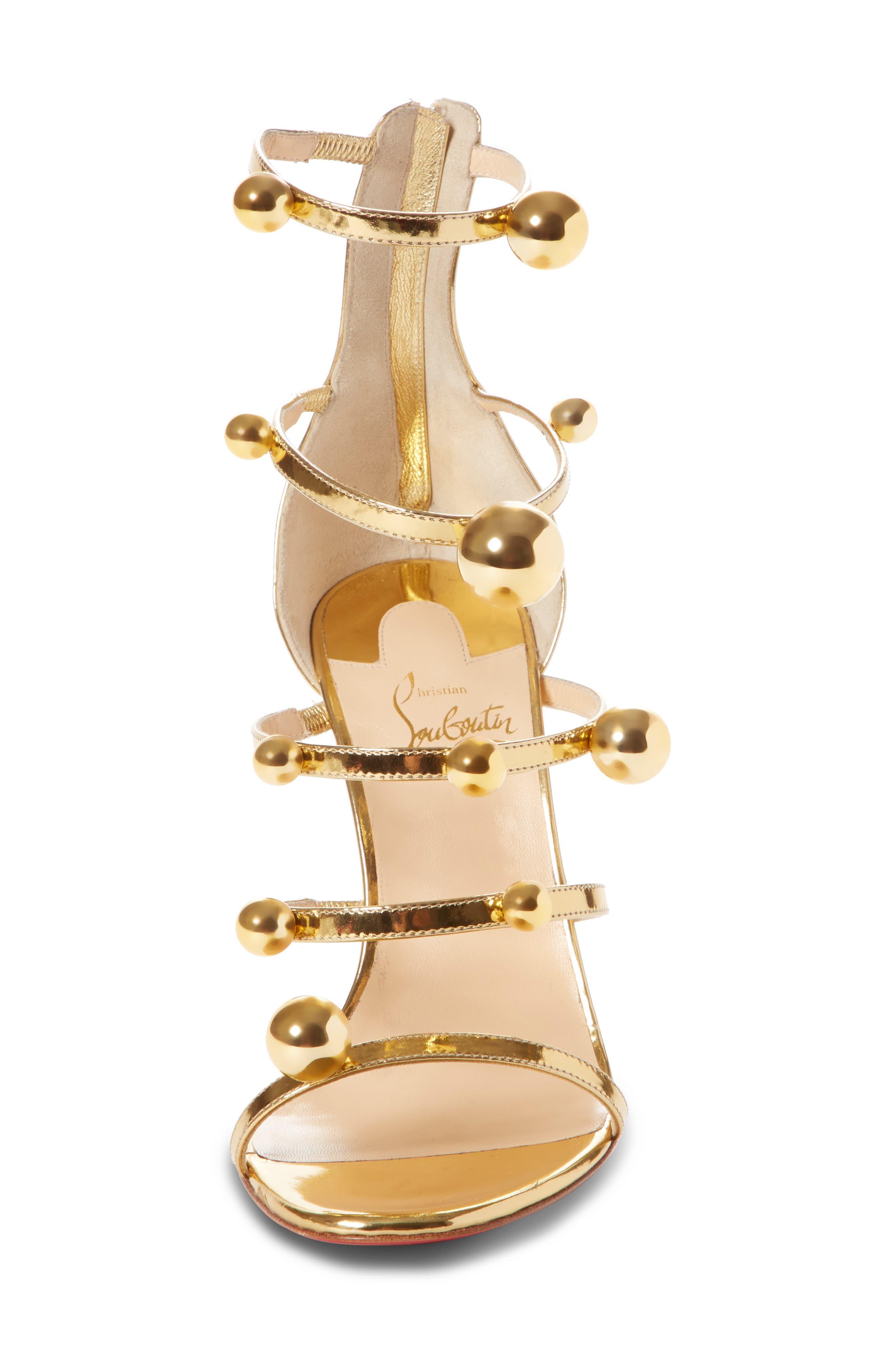 Atonana Ornament Sandal,                             Alternate thumbnail 4, color,                             Gold