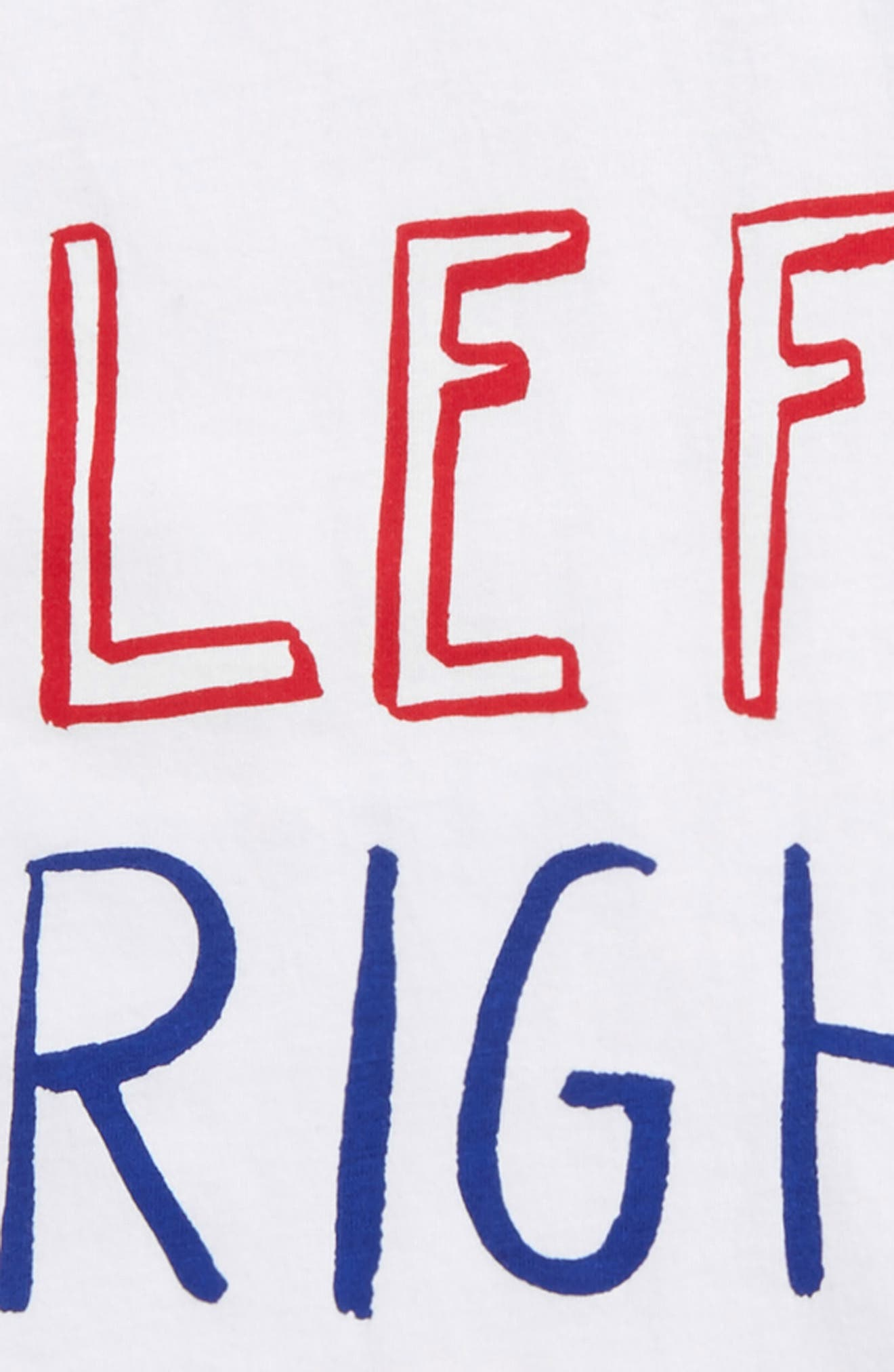 Left Right T-Shirt,                             Alternate thumbnail 2, color,                             White
