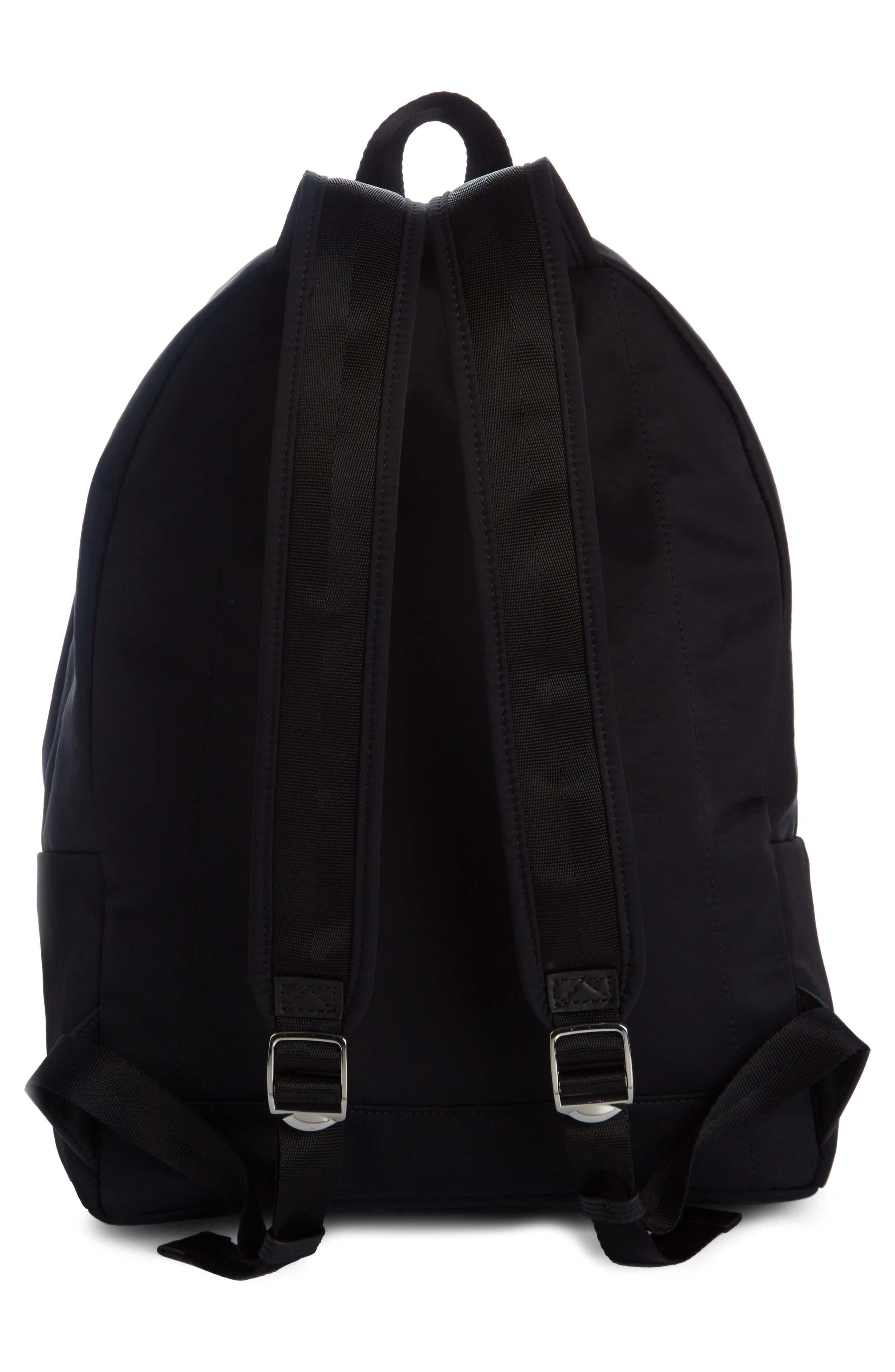 Sport Logo Nylon Backpack,                             Alternate thumbnail 2, color,                             Black