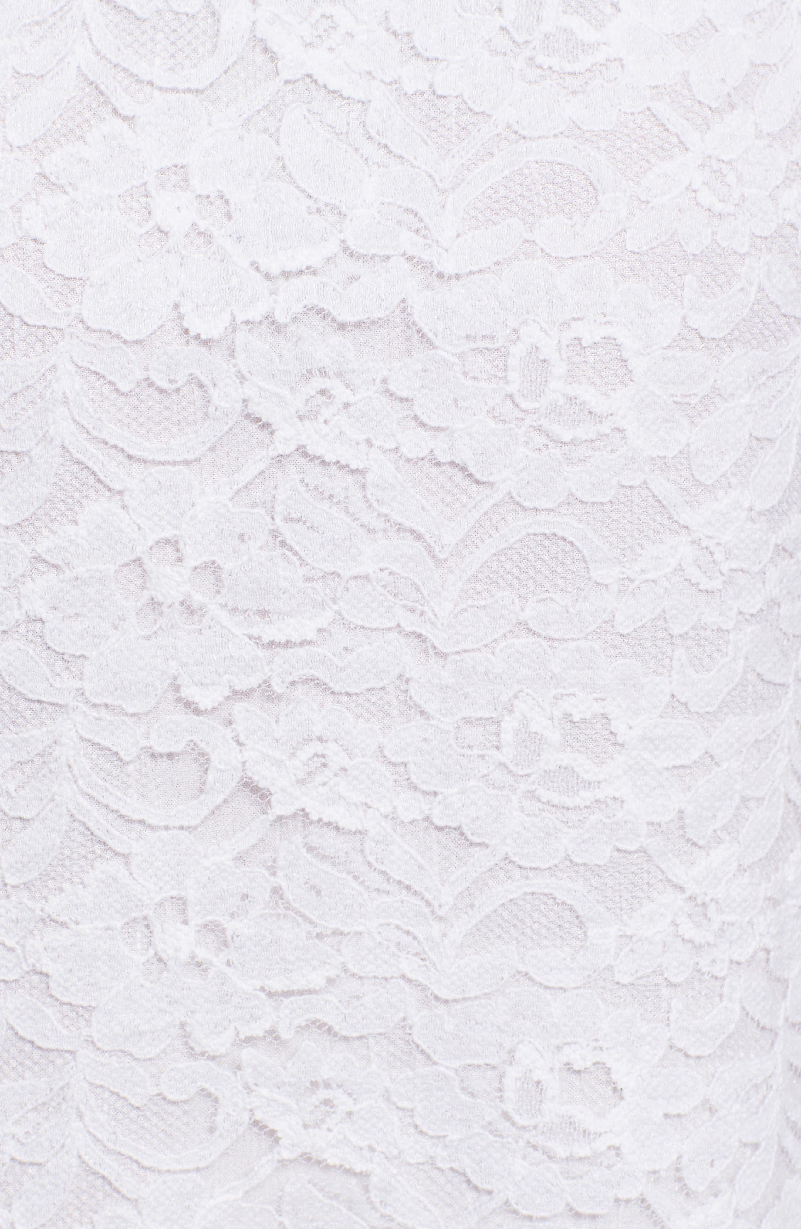 Rapture Lace Keyhole Dress,                             Alternate thumbnail 5, color,                             White