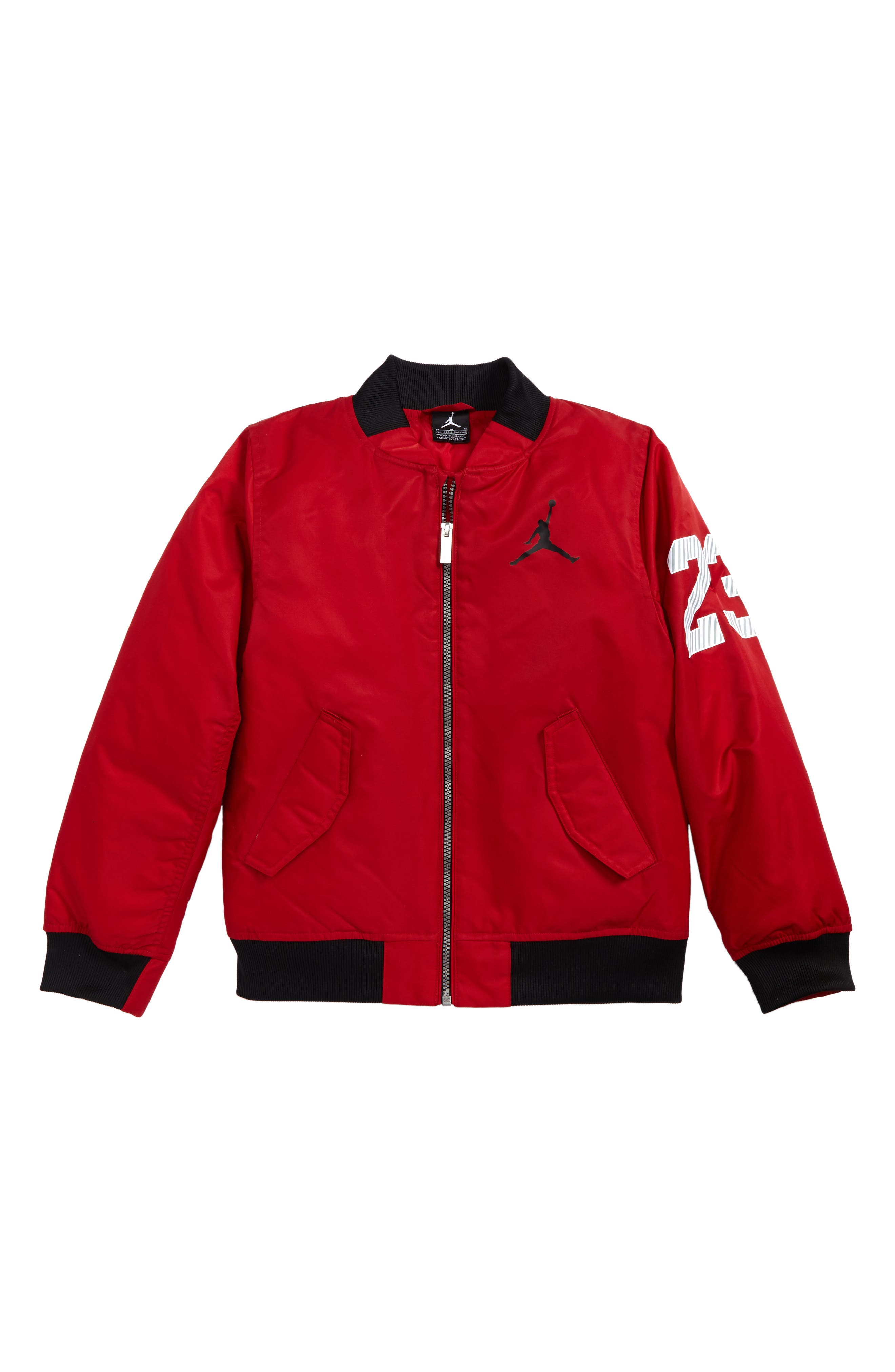 Jordan Fall in Line Jacket,                             Main thumbnail 1, color,                             Gym Red
