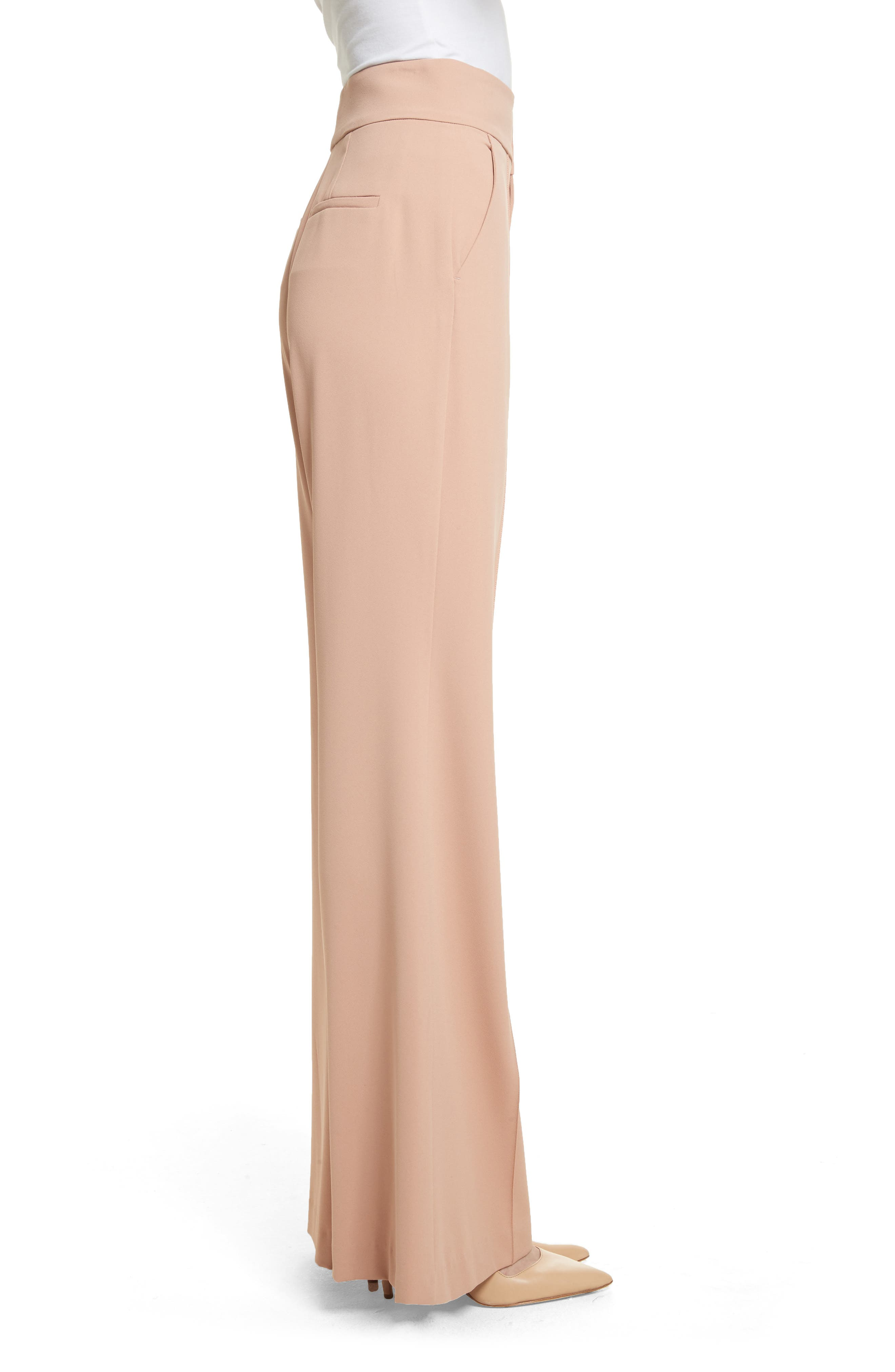 Alternate Image 3  - Alice + Olivia Dawn High Waist Front Pintuck Flared Pants