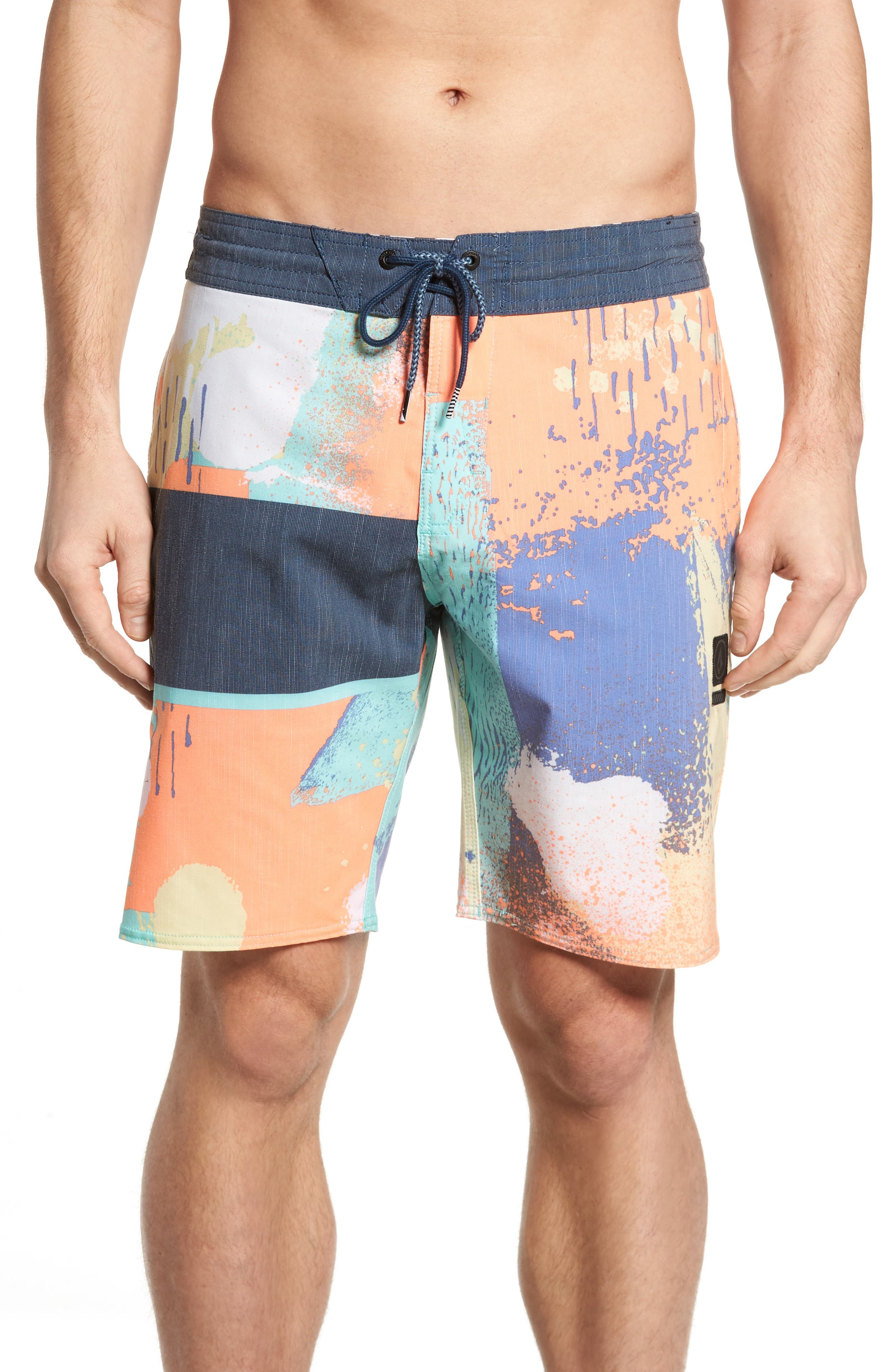 3 Quarta Board Shorts,                         Main,                         color, Orange