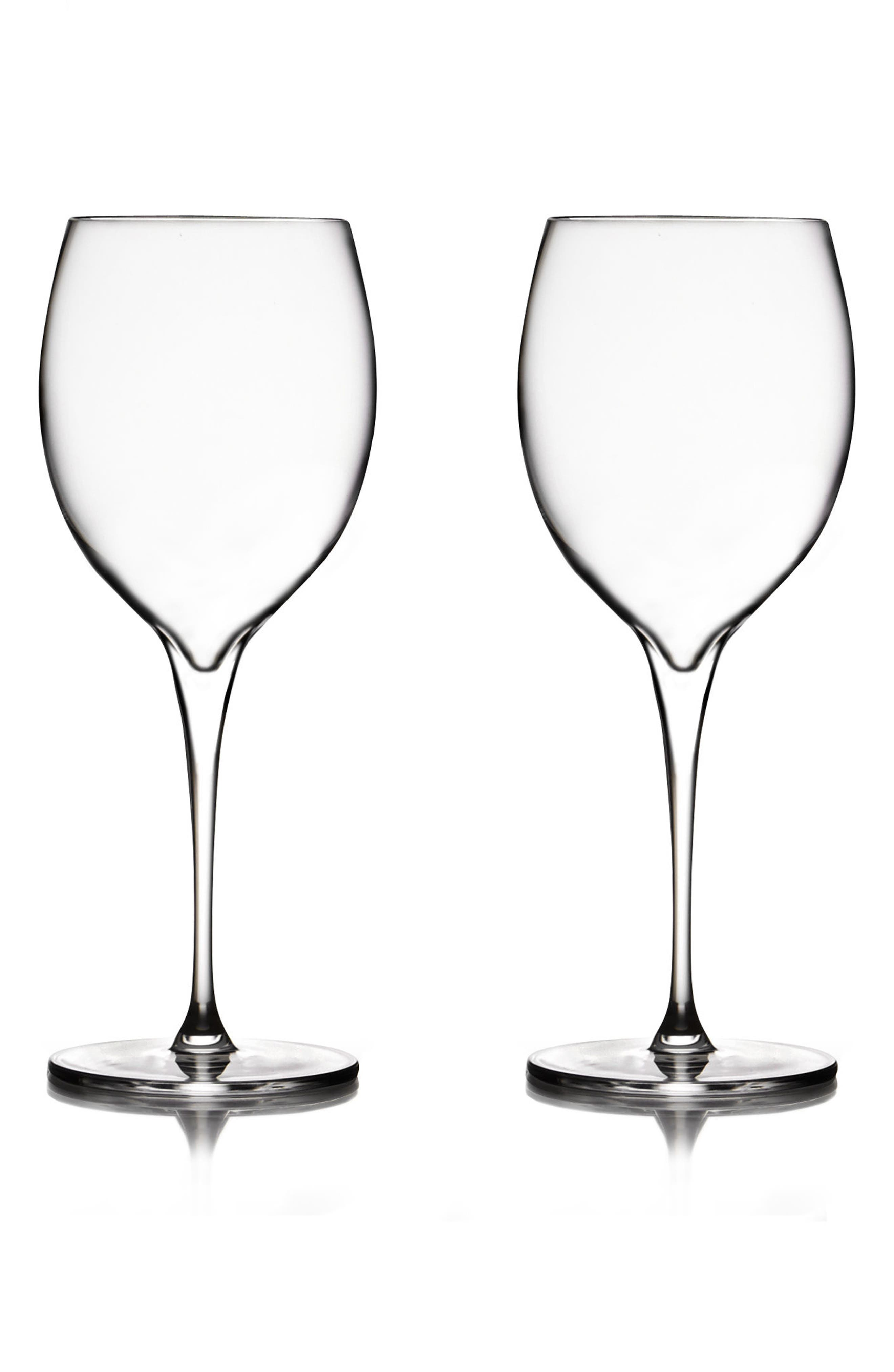 Vie Set of 2 Chardonnay Glasses,                             Main thumbnail 1, color,                             Clear