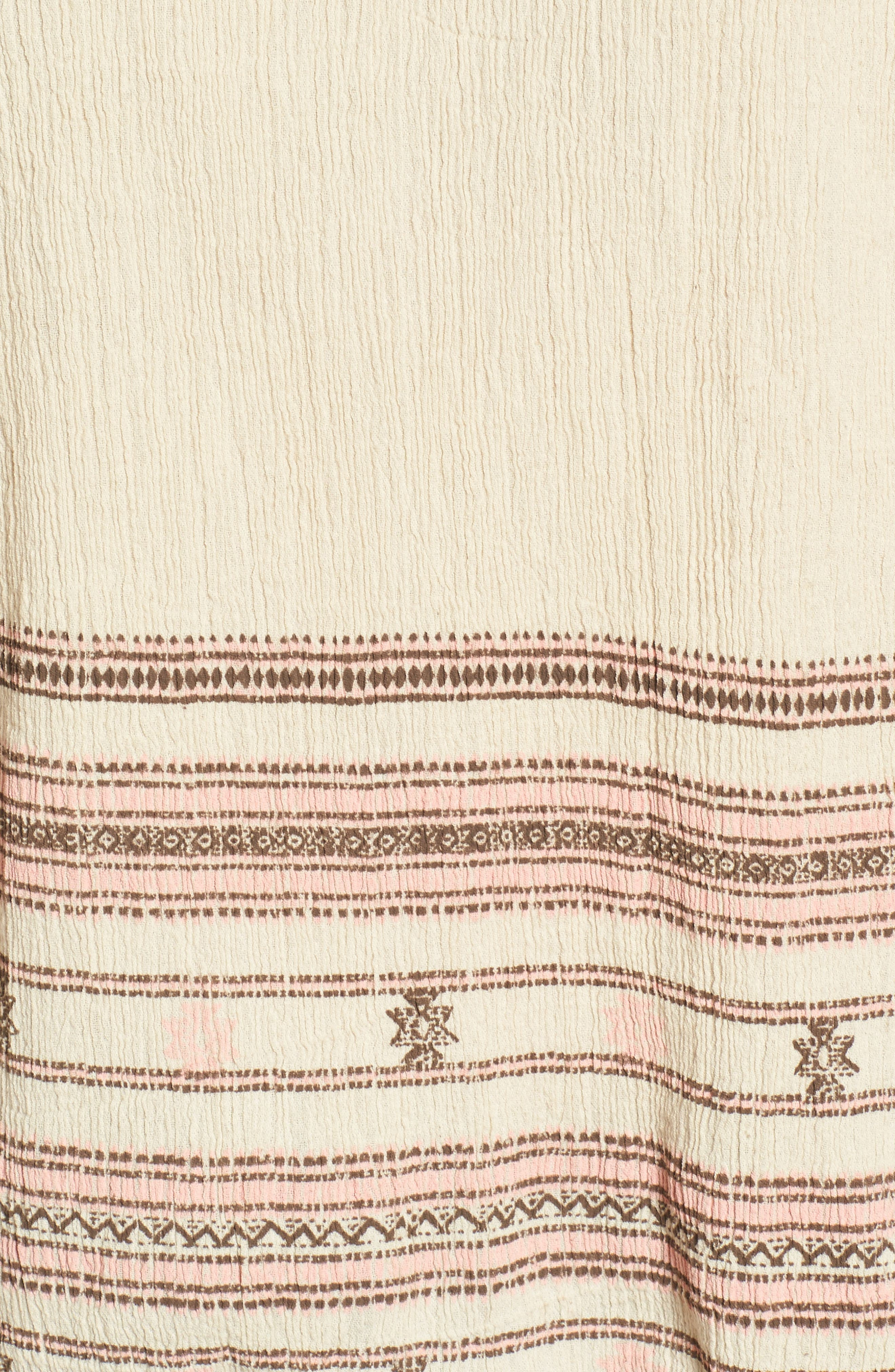 Market Embroidered Peasant Blouse,                             Alternate thumbnail 5, color,                             Natural