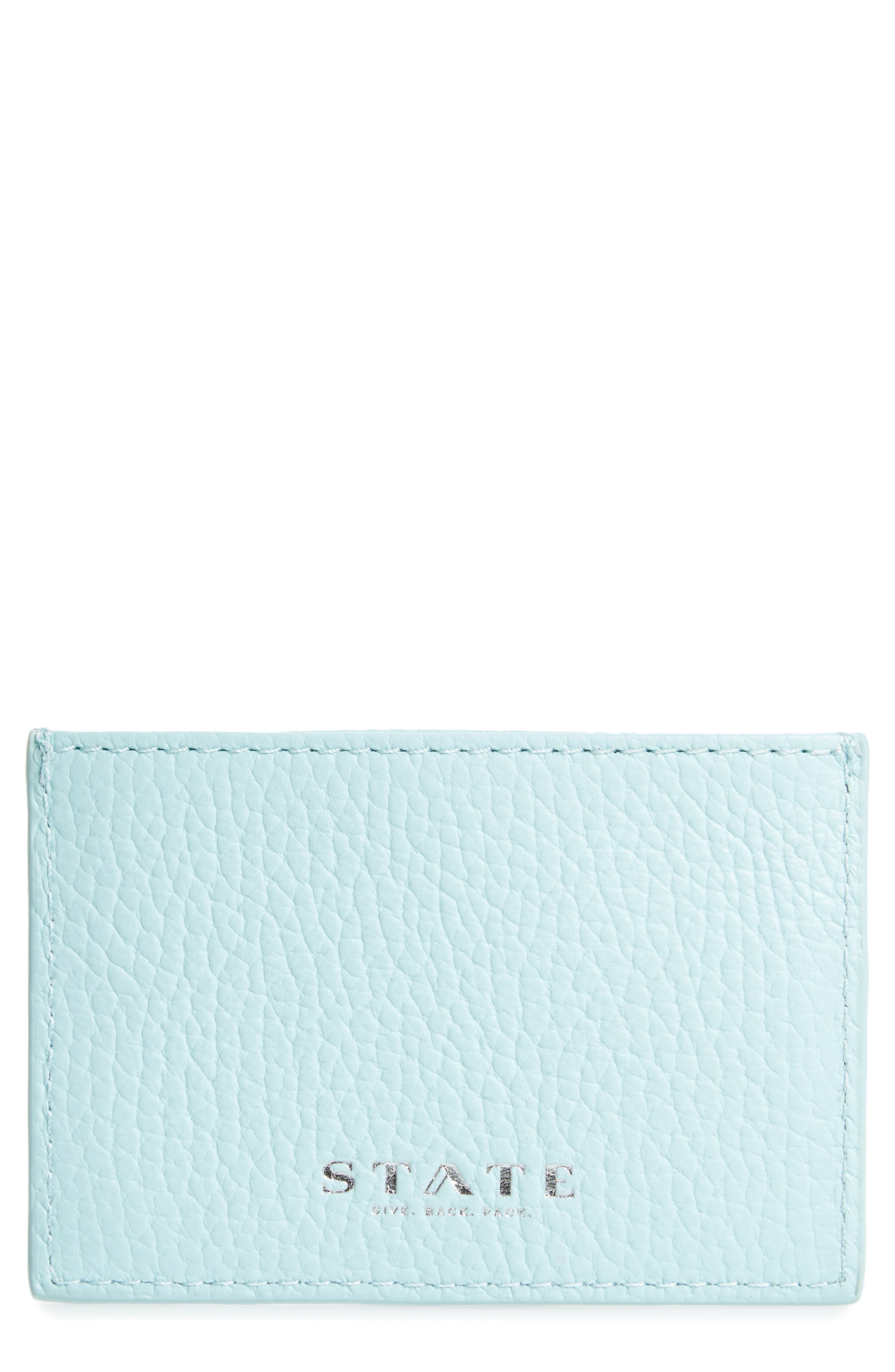 Main Image - STATE Bags Greenwood Monaco Leather Card Case
