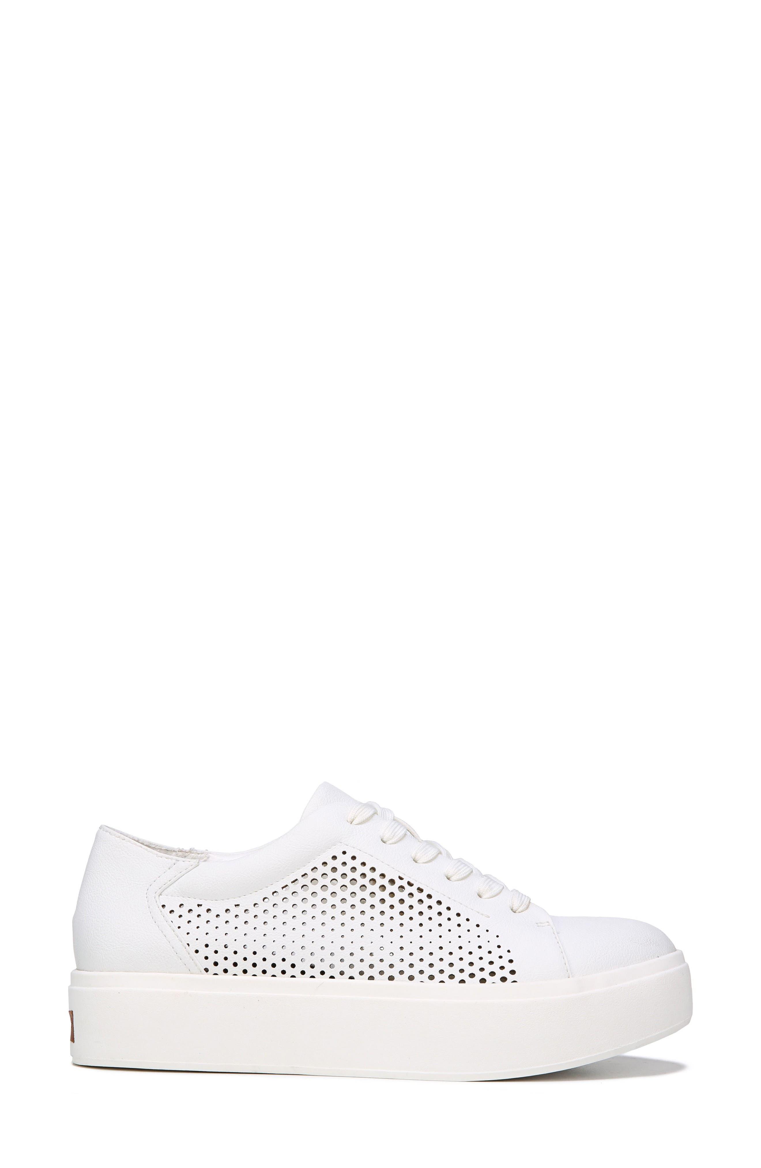 Kinney Platform Sneaker,                             Alternate thumbnail 3, color,                             White