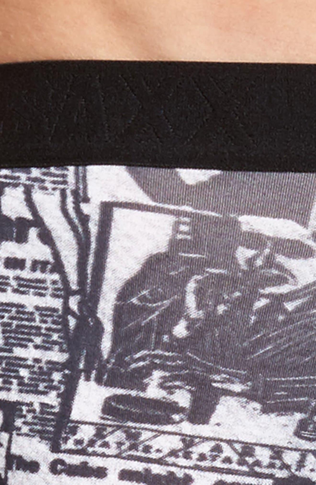 Vibe Newsprint Boxer Briefs,                             Alternate thumbnail 4, color,                             La Confidential