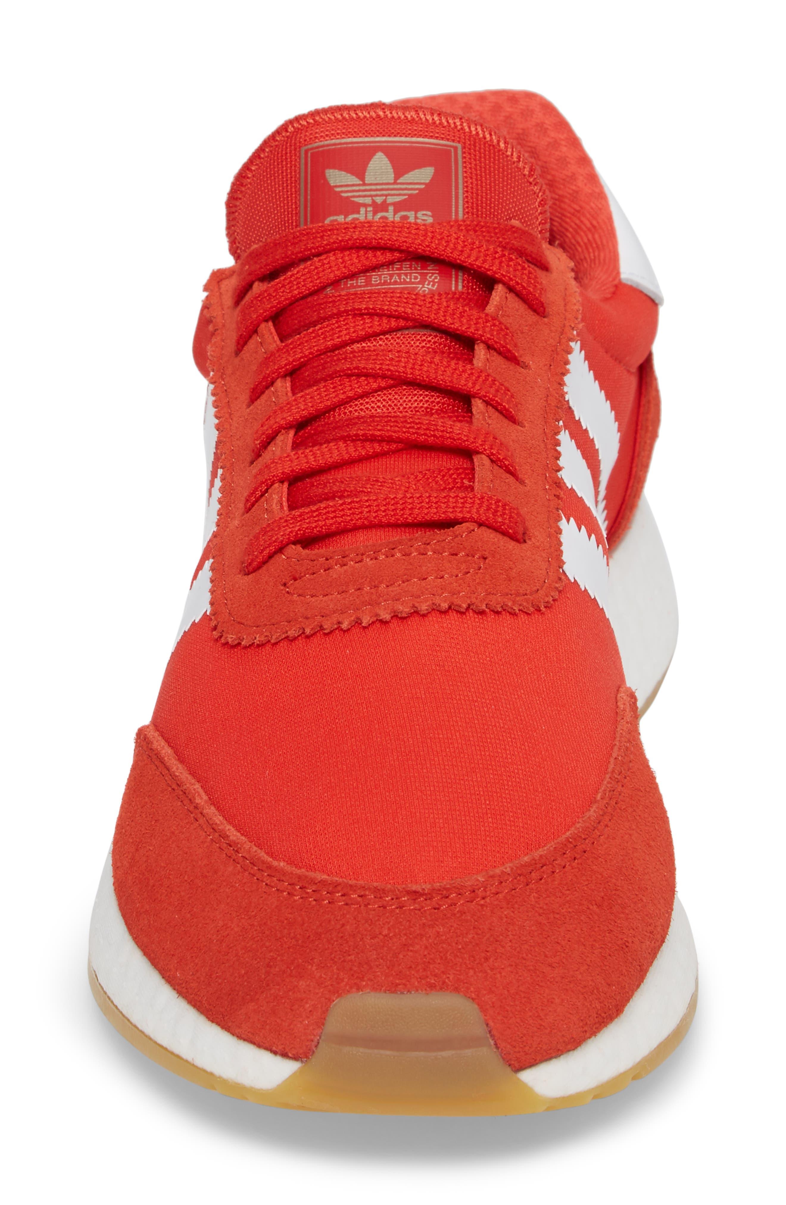 Iniki Running Shoe,                             Alternate thumbnail 4, color,                             Red/ White/ Gum