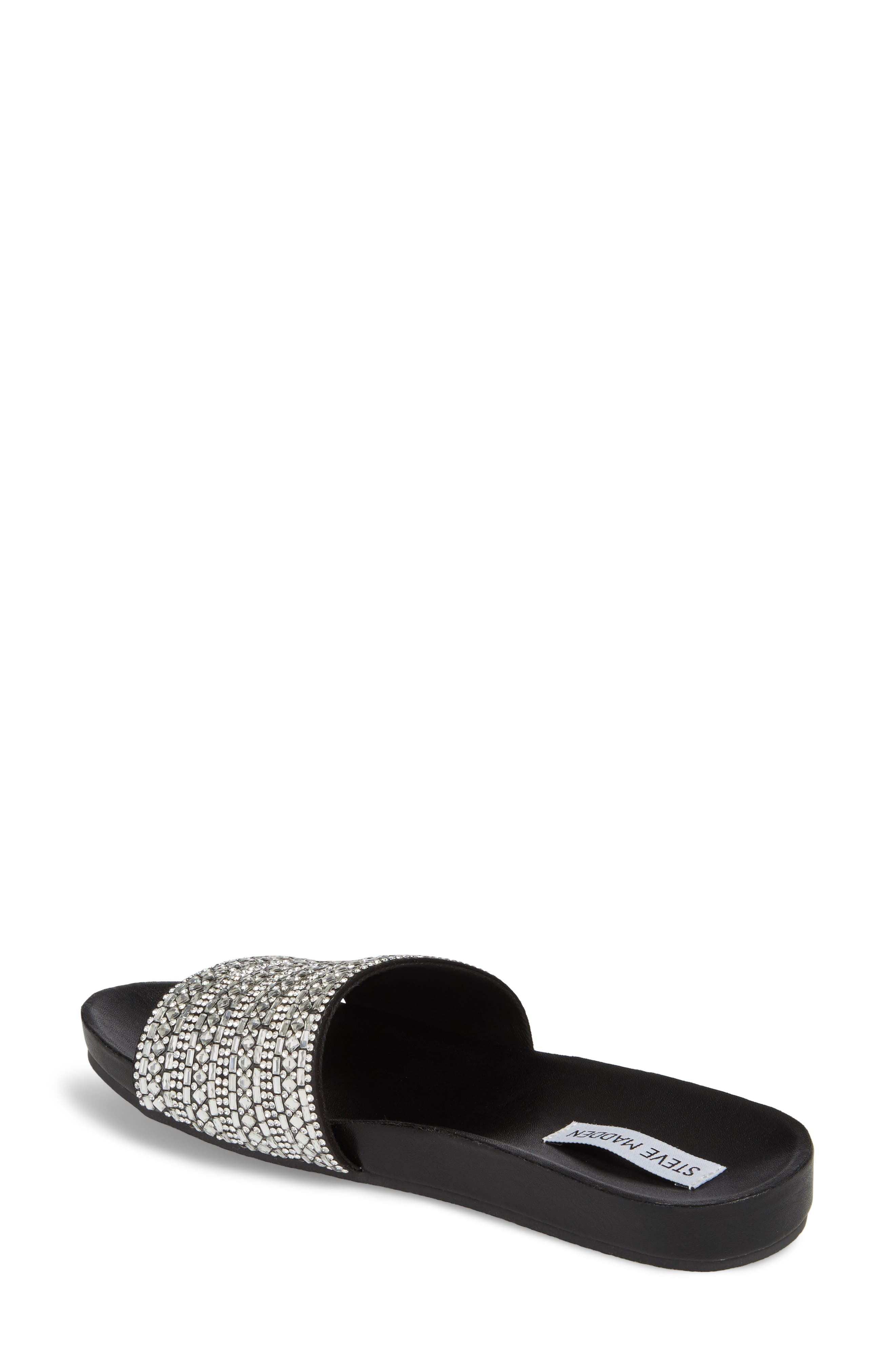 Alternate Image 2  - Steve Madden Dazzle Embellished Slide Sandal (Women)